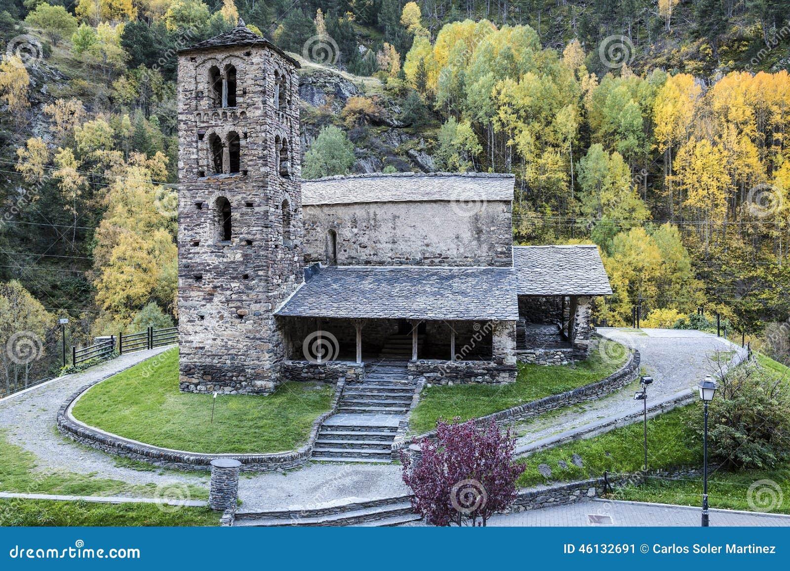 Sant第12个安道尔编译canillo caselles century church de joan的罗马式
