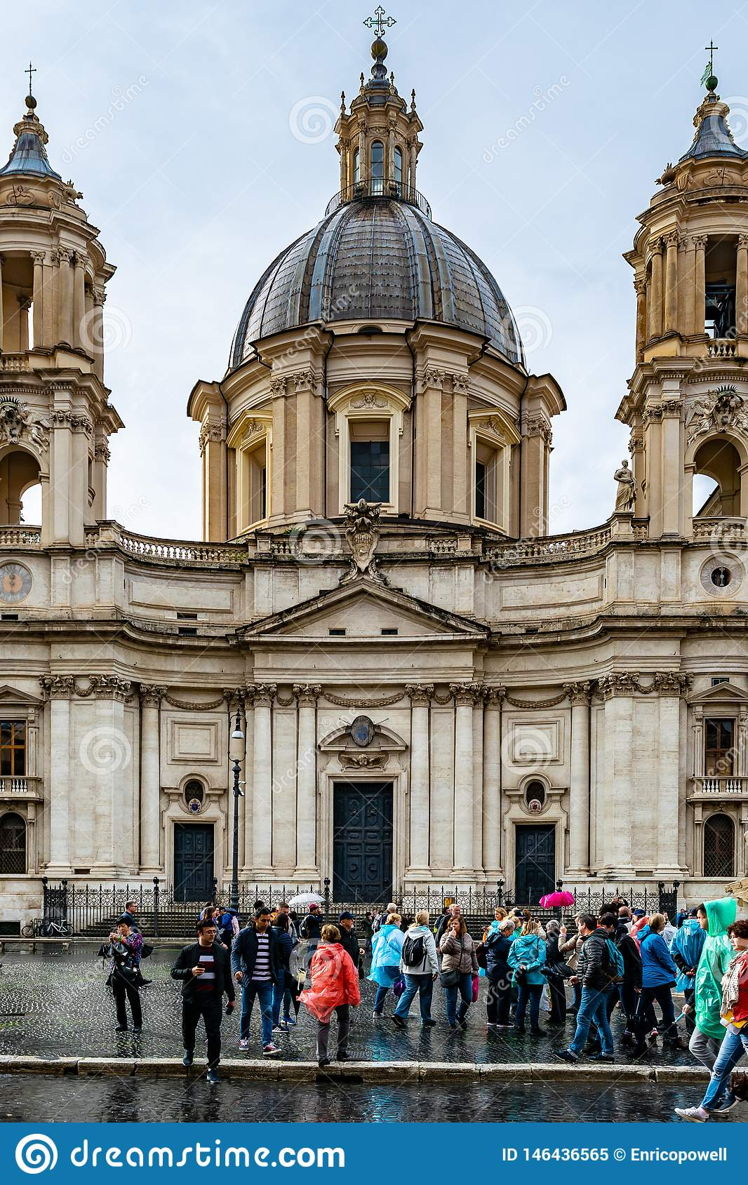Sant`Agnese in Agone also called Sant`Agnese in Piazza Navona a 17th century Baroque Church in Rome