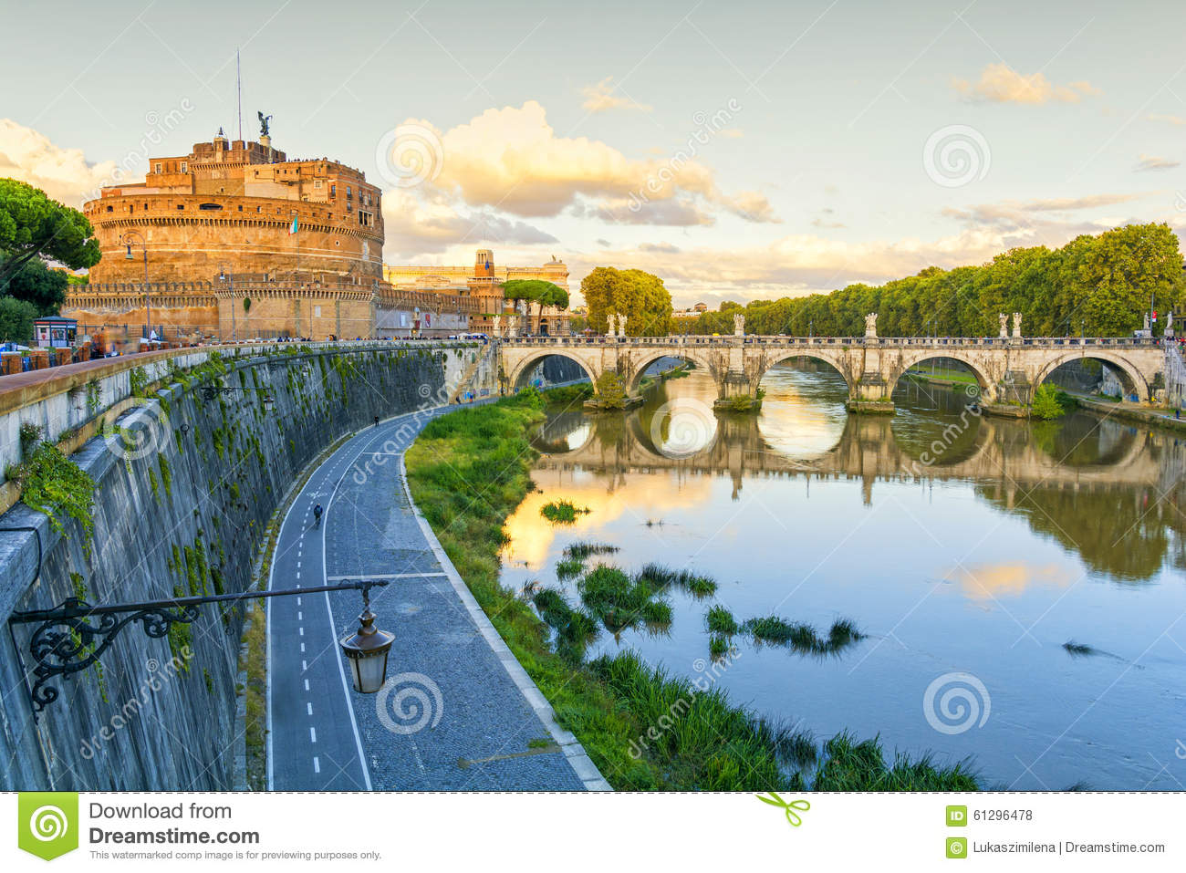 Sant Angelo Castel In Rome Italy Stock Photo Image 61296478