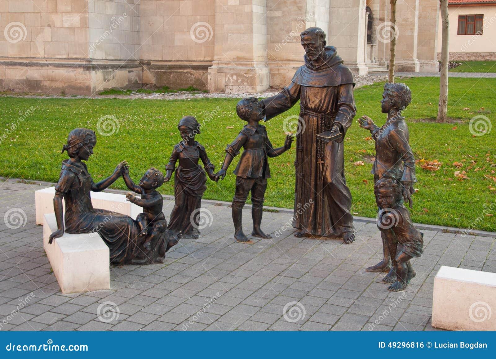 Sant Antonio statuary ensemble in Alba Iulia