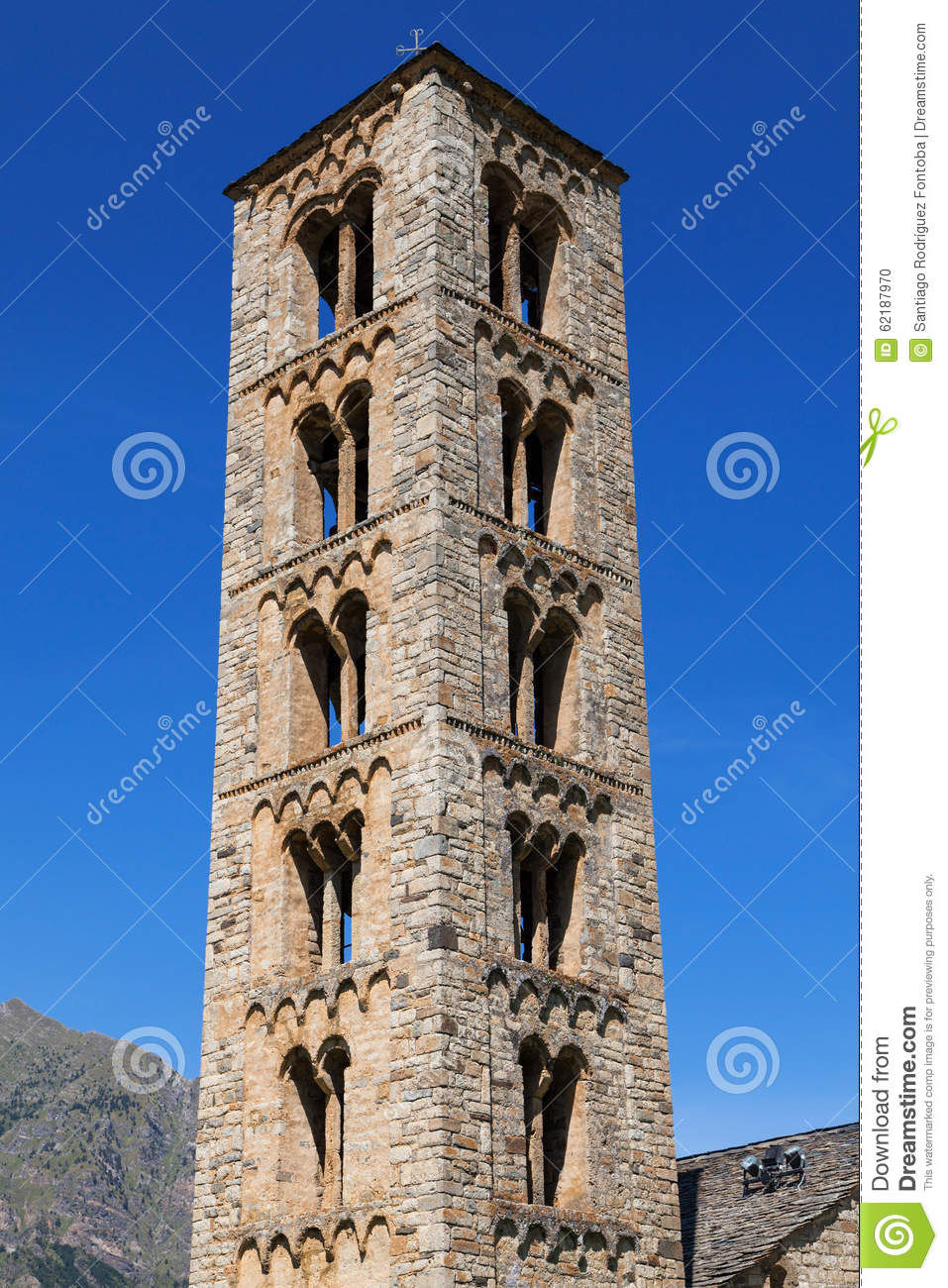 Sant Climent Bell Tower In Taull Stock Photo - Image: 62187970