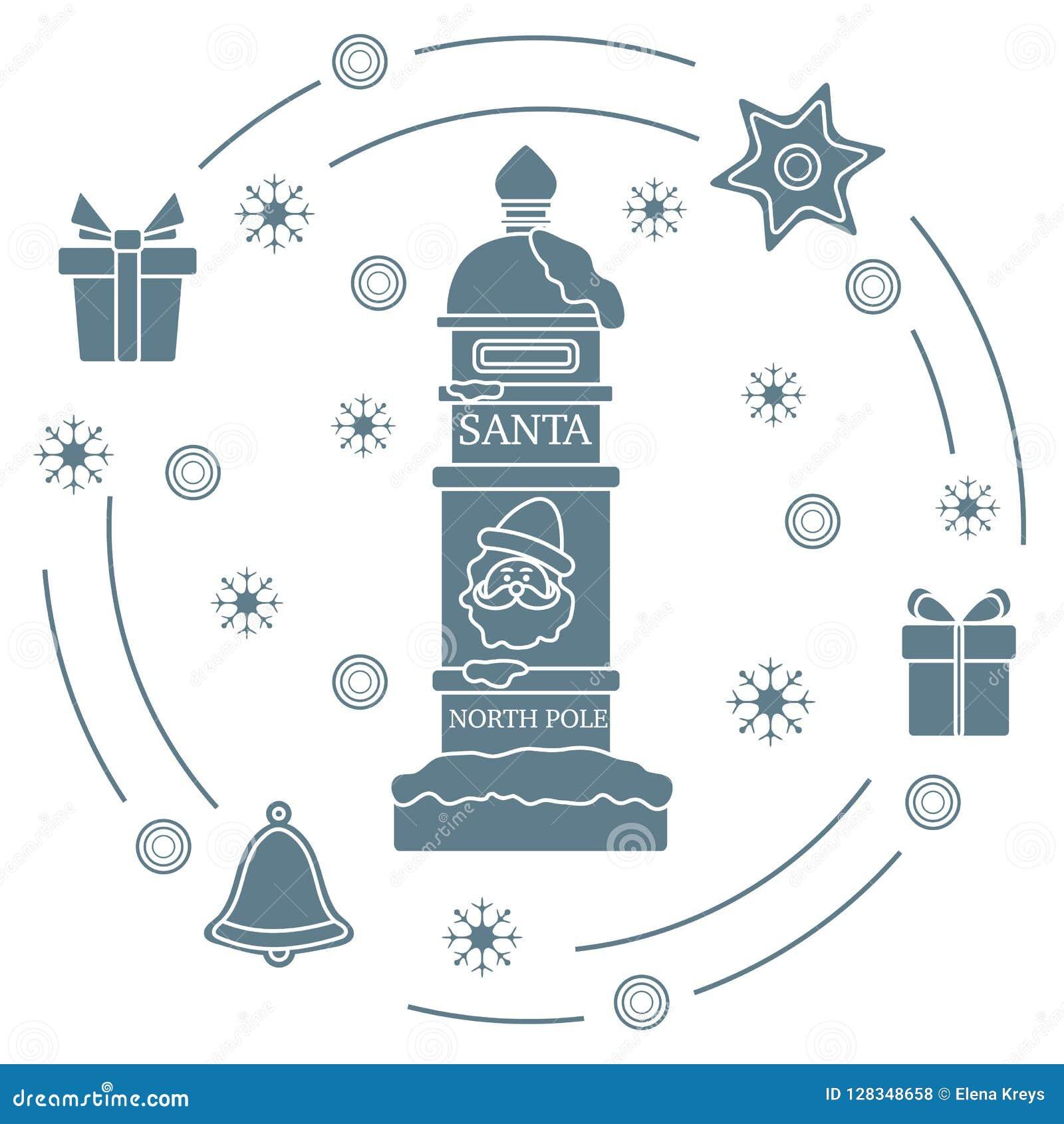 Santa'sbrievenbus, giften, klok, peperkoek