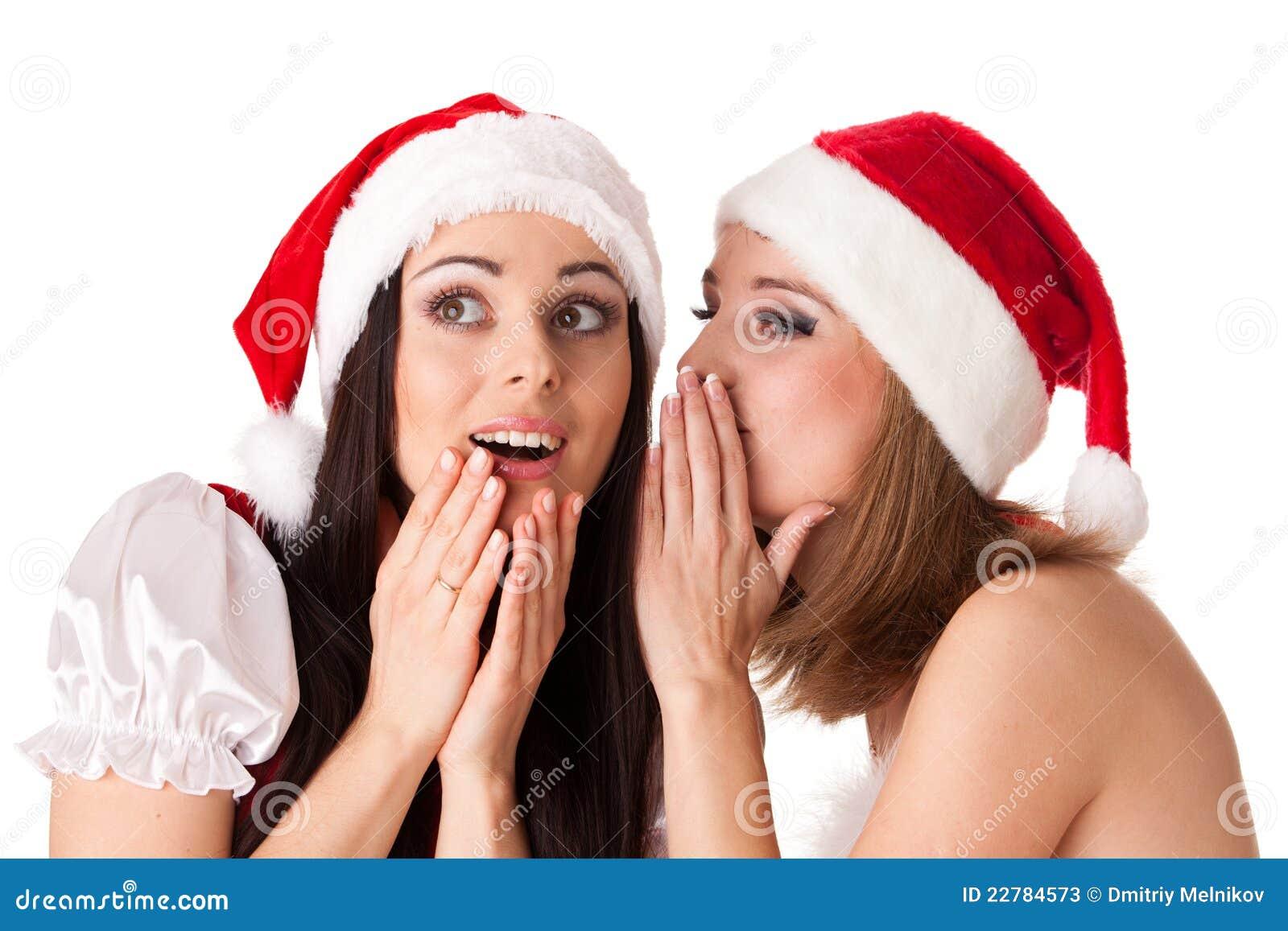 Santa κοστουμιών δύο νεολαί&epsi