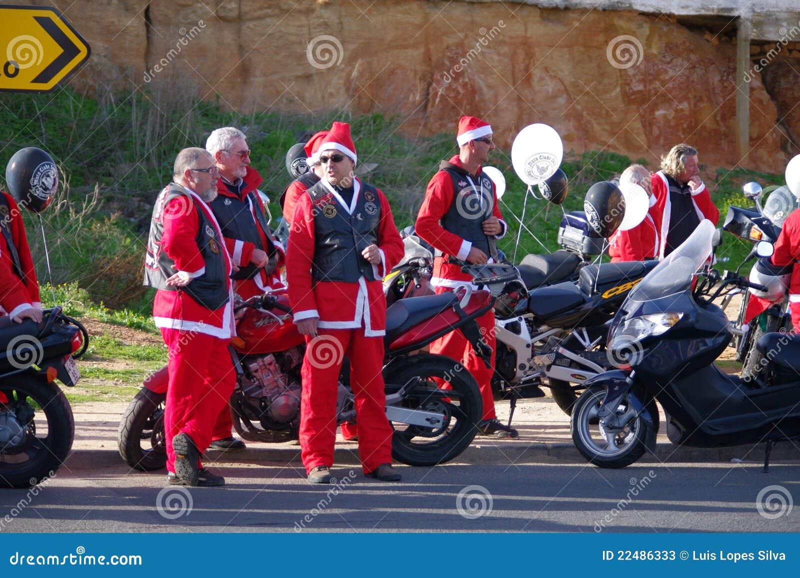 Santa παρελάσεων Claus ποδηλάτων τ