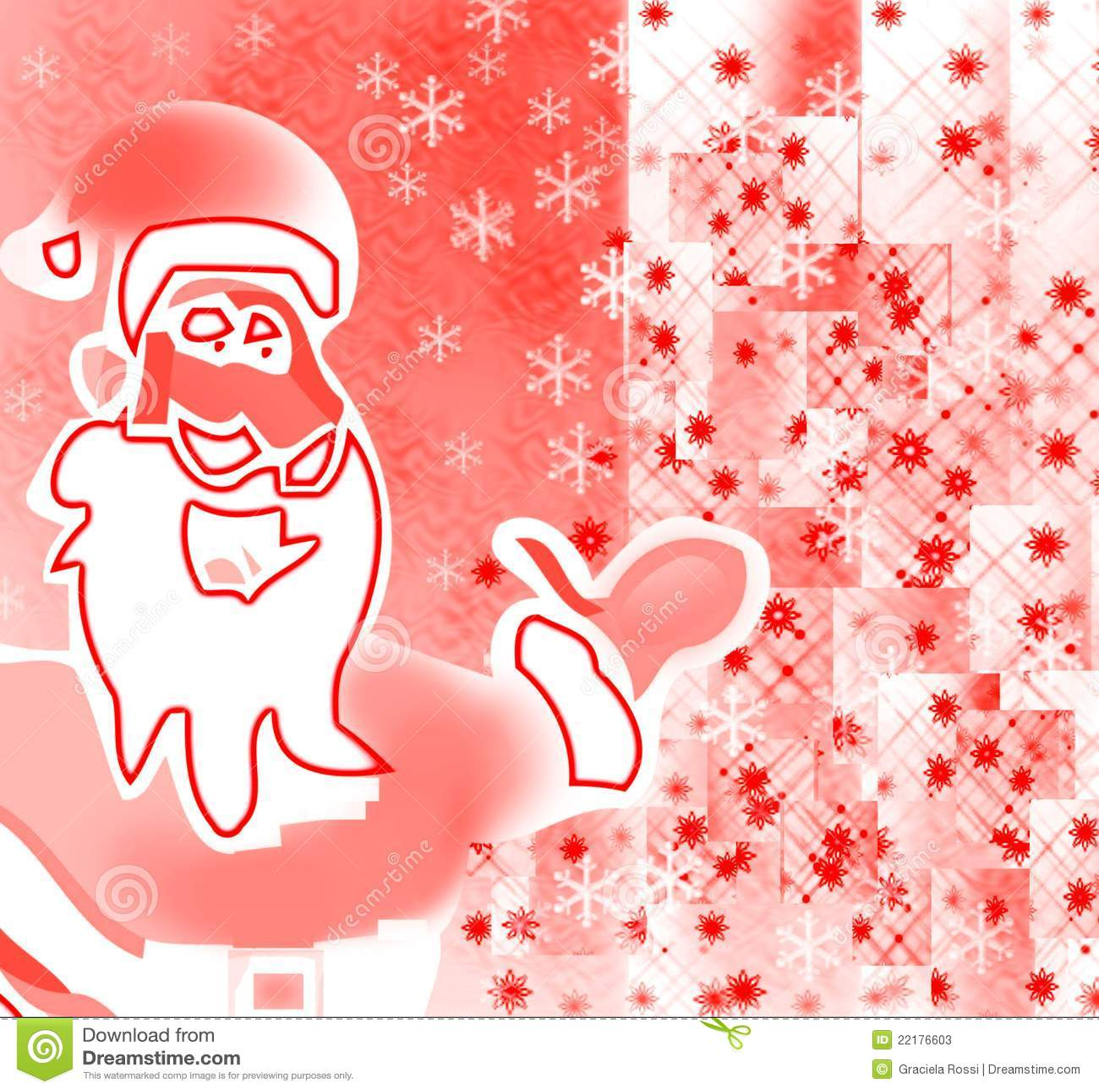 Santa που εμφανίζει τους εορτασμούς και δώρα εύθυμου
