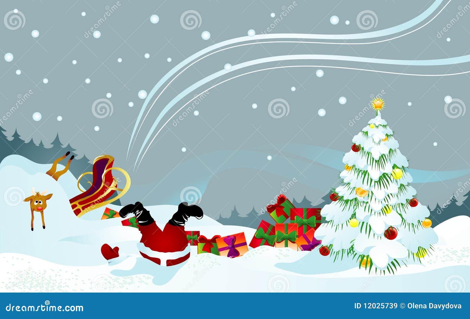 Santa ταράνδων που ναυαγείτα&iot