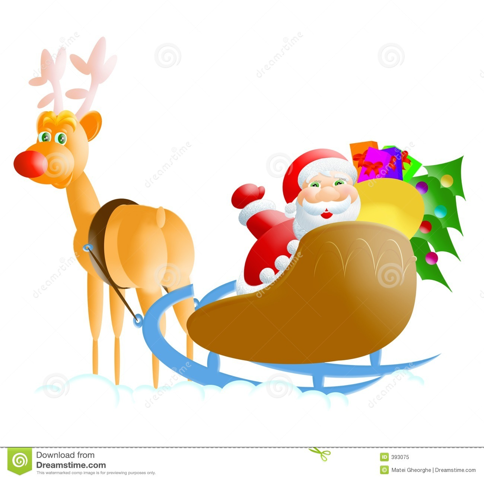 Santa του Rudolph