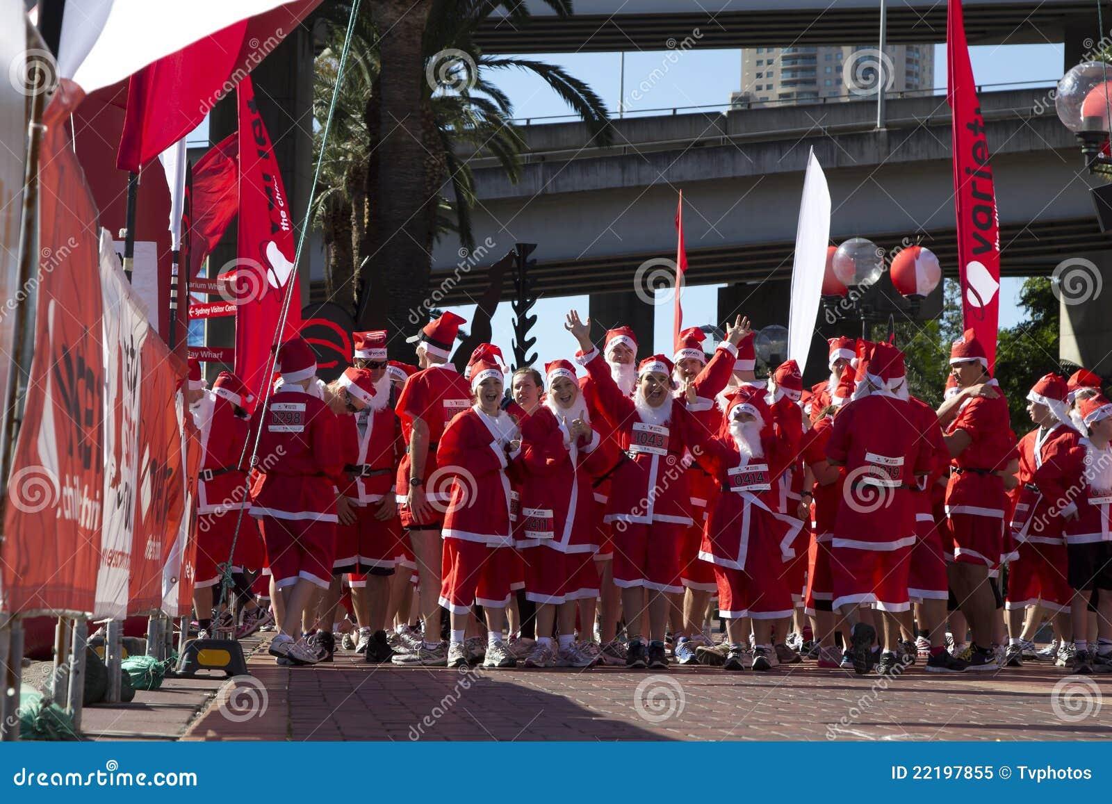 Santa τρεξίματος διασκέδαση&sigm