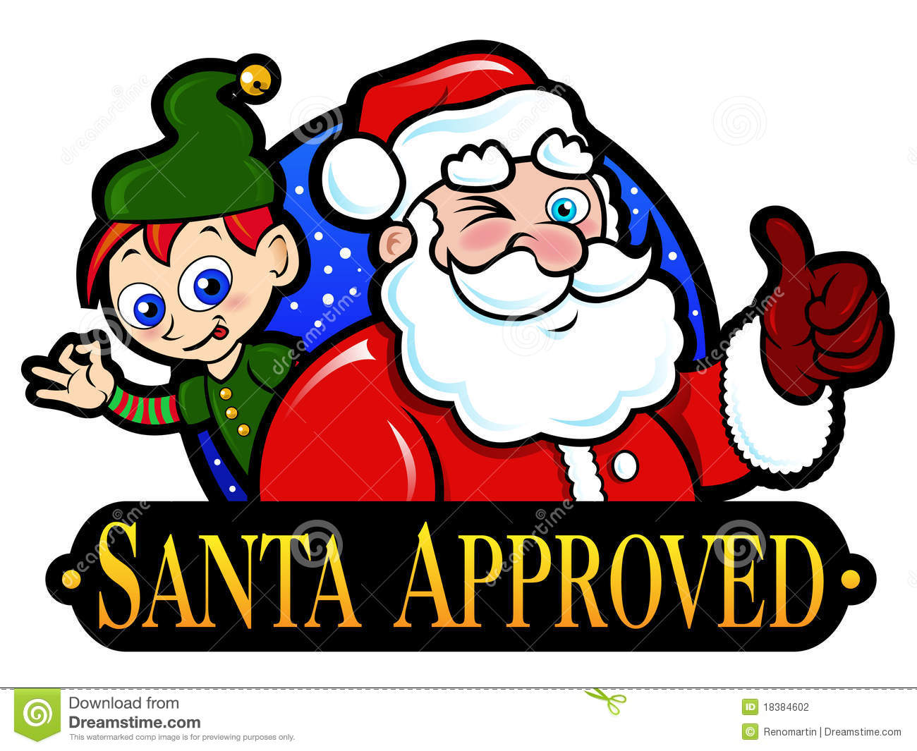 Nice Seal were Santa Claus and one of his Christmas Elf are approving ...