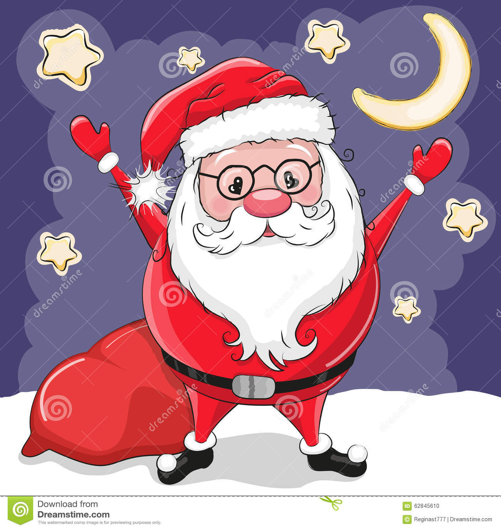 Santa avec des cadeaux