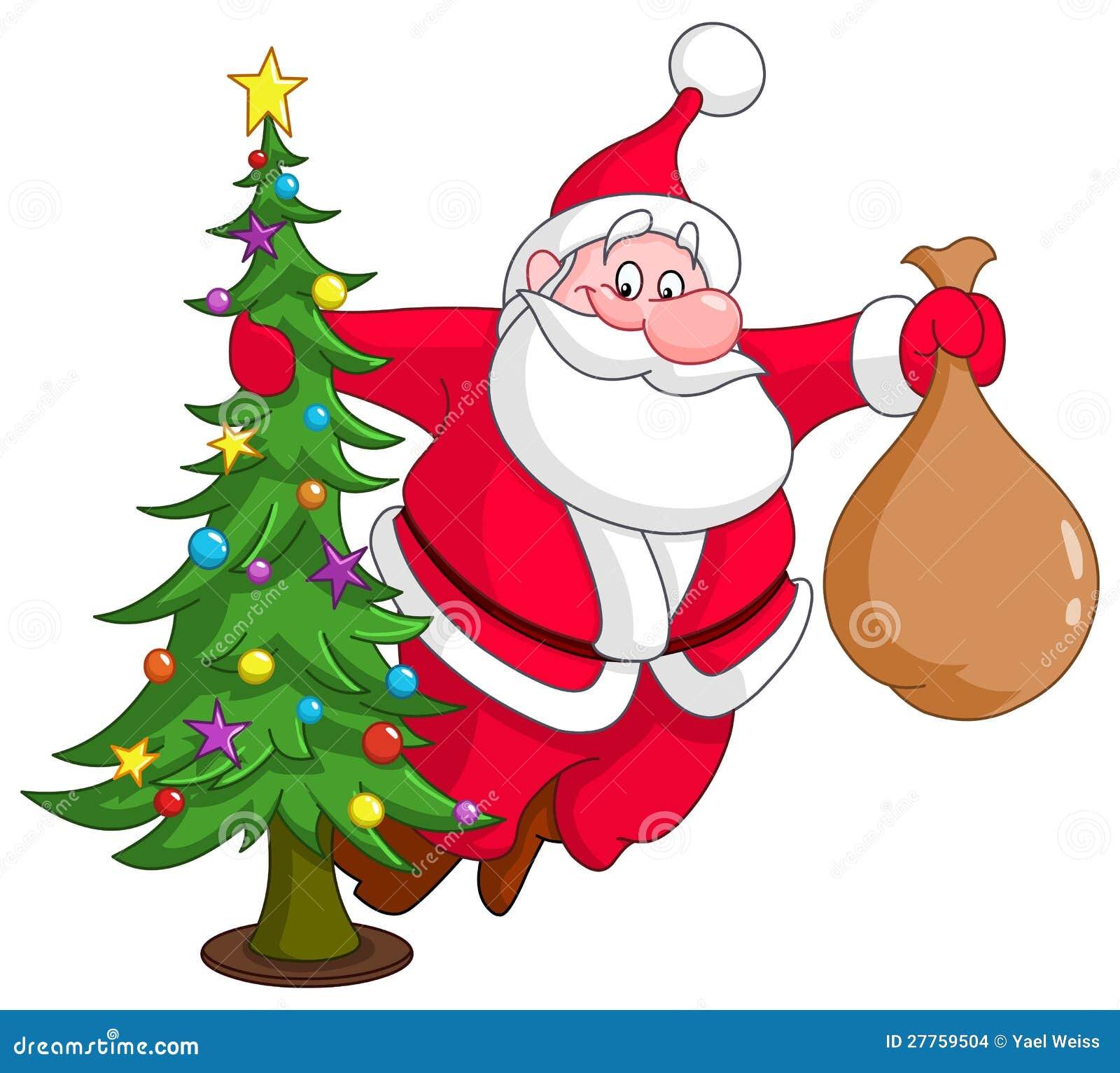 Santa avec l arbre de Noël