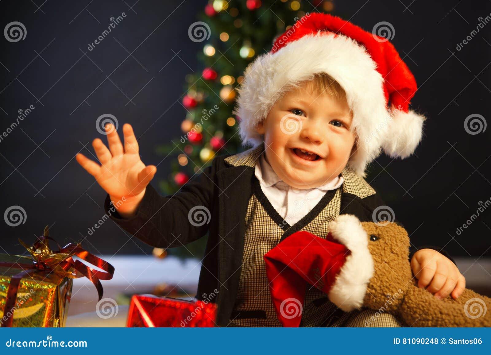 88d72575d37 Santa baby stock photo. Image of infant