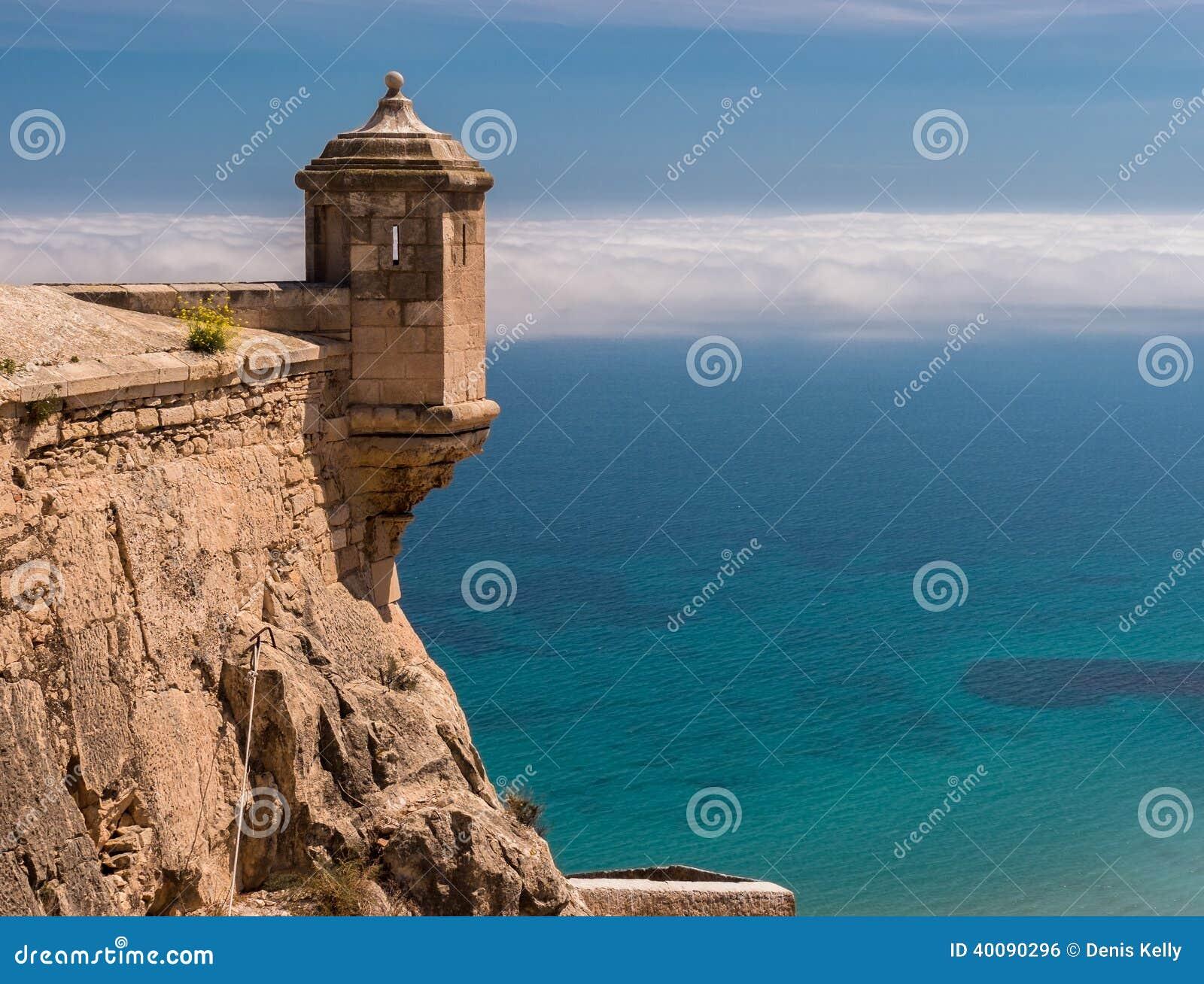 Santa Barbara kasztel w Alicante, Hiszpania