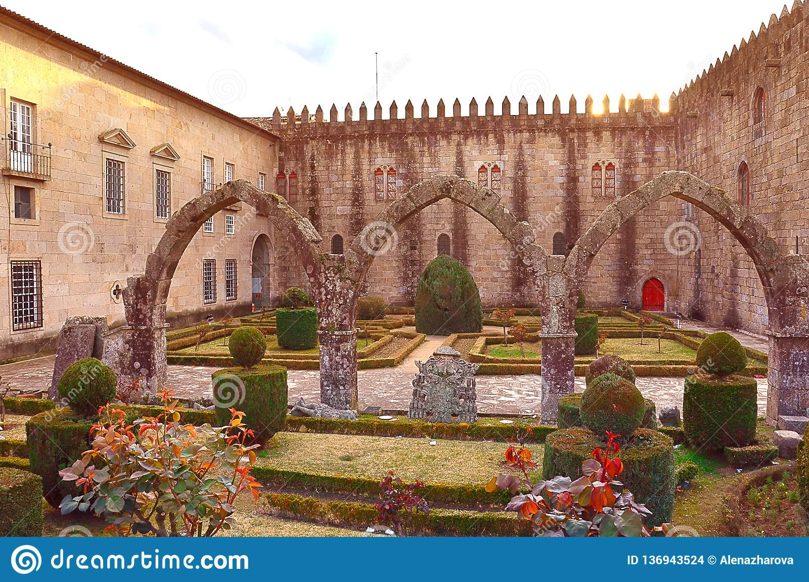 Santa Barbara-tuinen van Braga, Portugal
