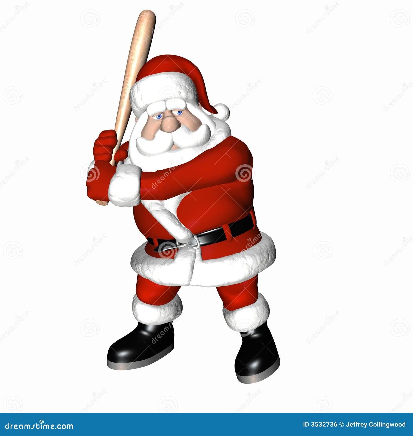 Santa Baseball 1 Royalty Free Stock Image Image 3532736