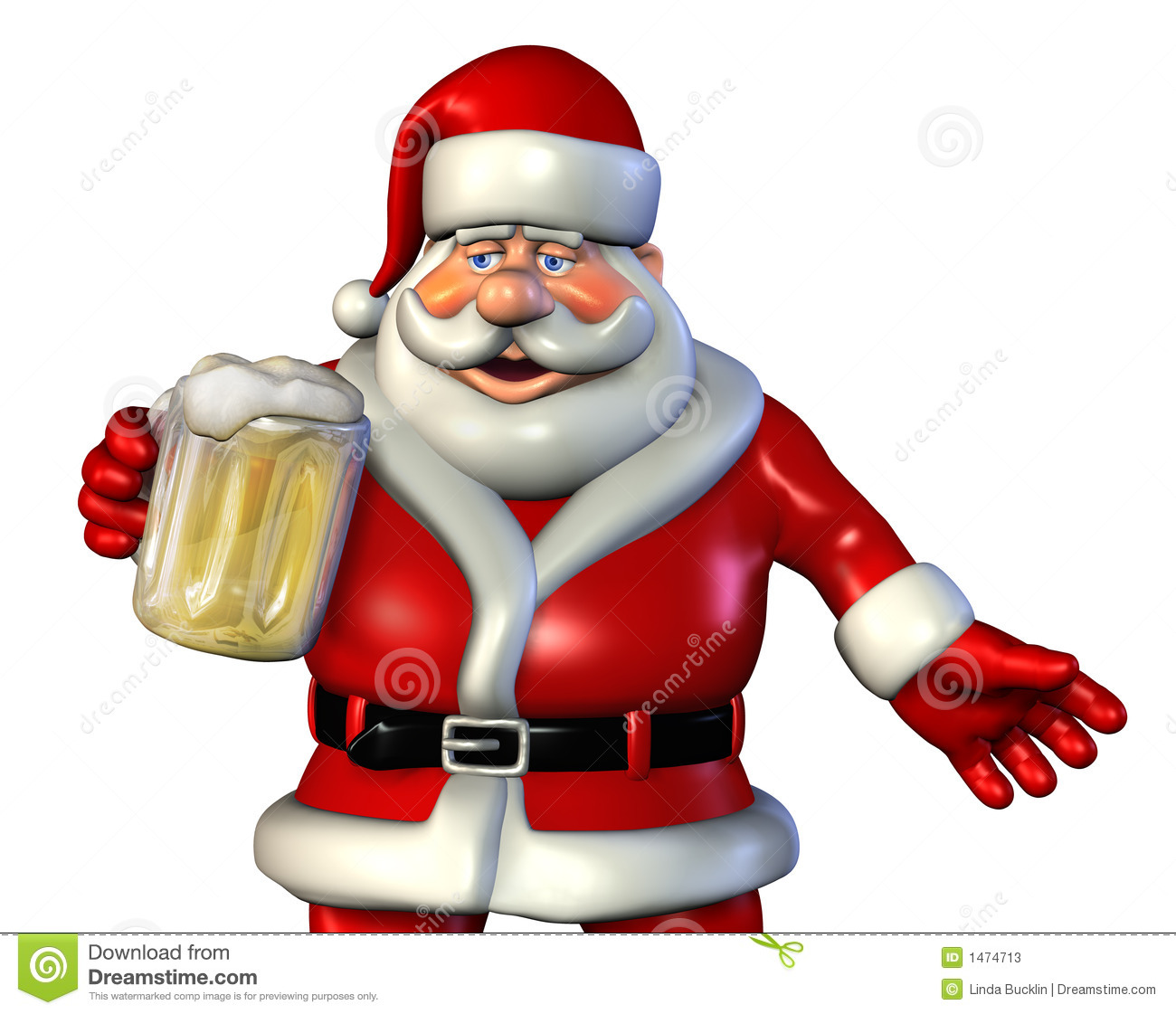 Santa With Beer 2 Stock Photos Image 1474713