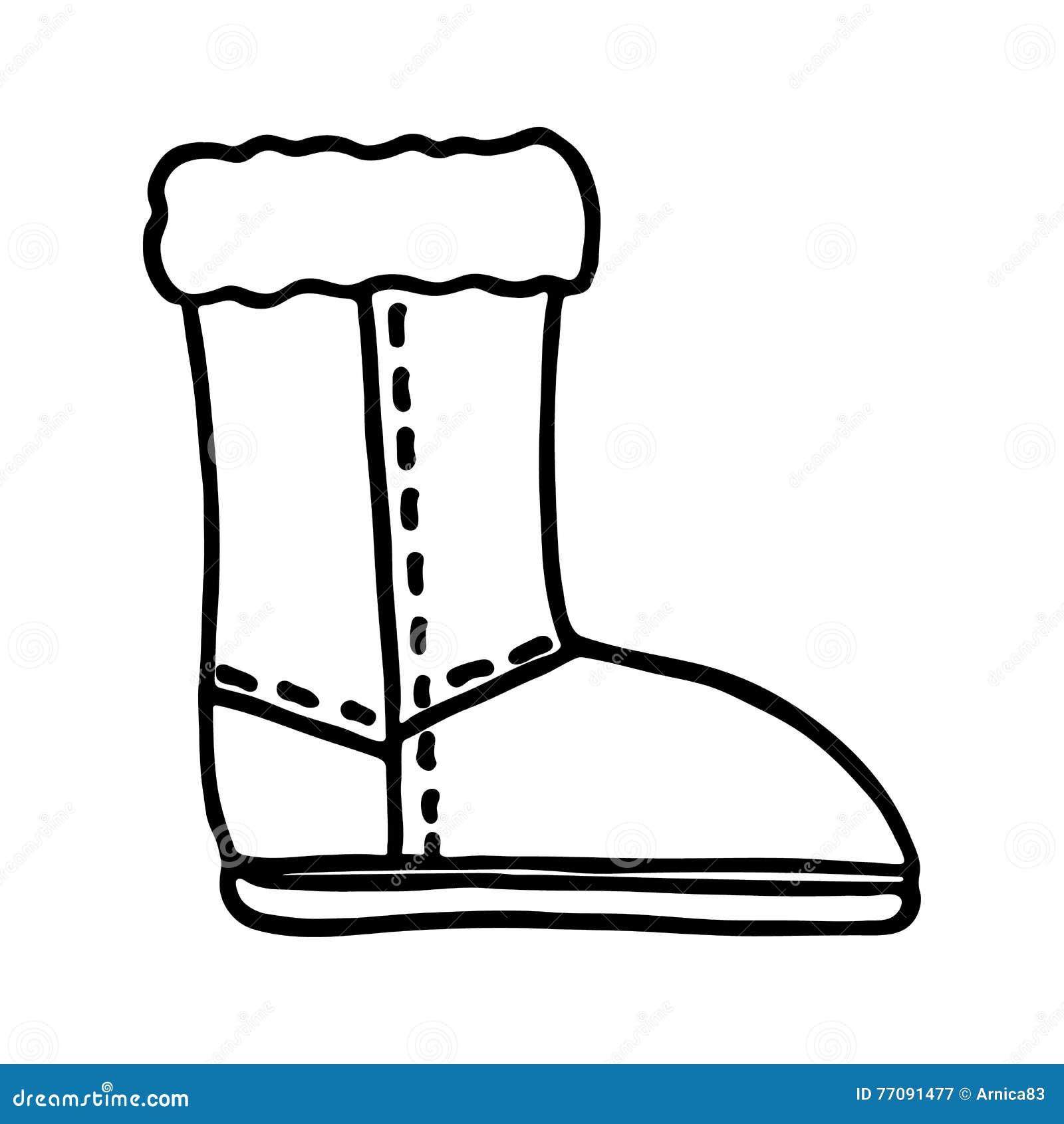 santa boot icon on white background