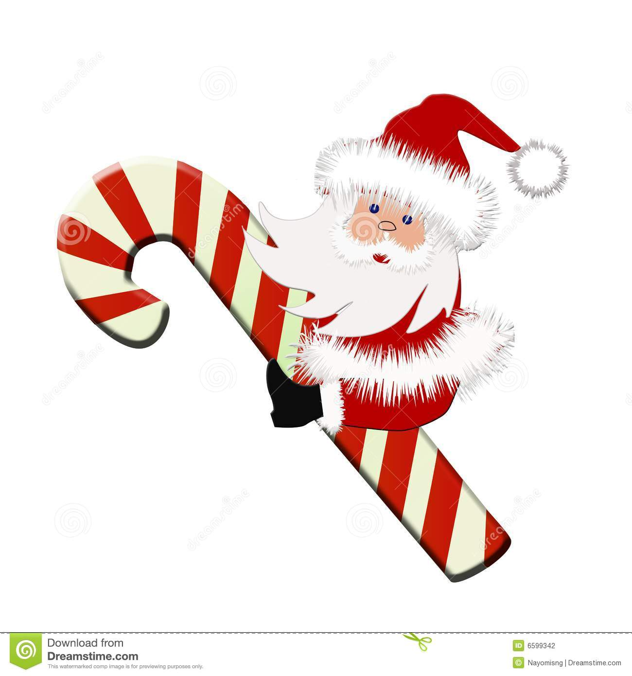 Santa with Candy cane stock photo. Image of cards, cane - 6599342