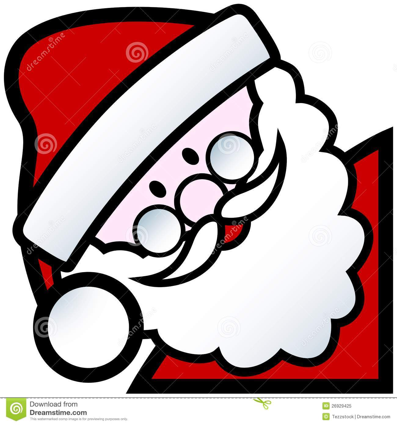 Santa cartoon stock vector. Illustration of santa ...
