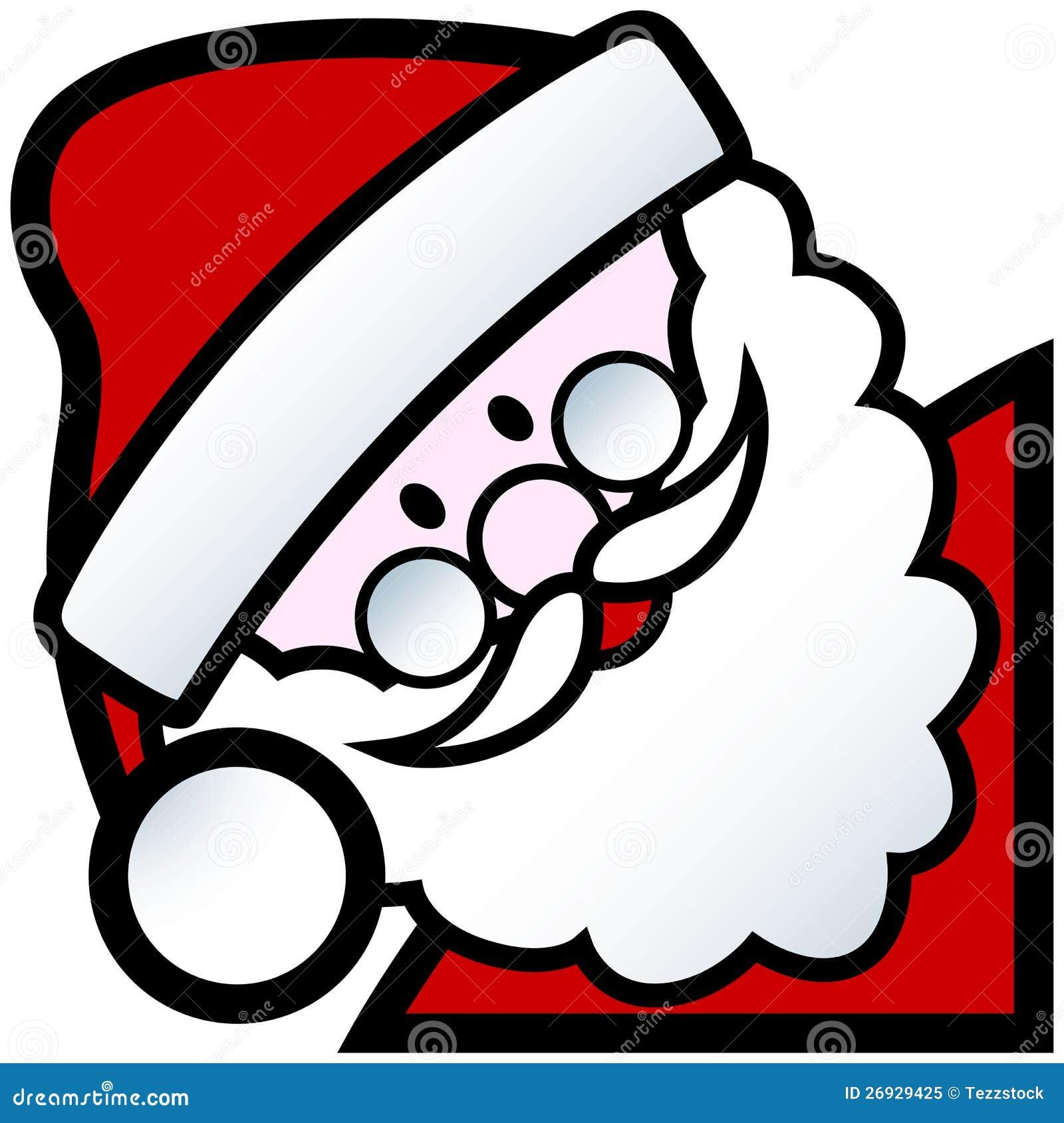 Cartoon Santa Face Clip Art