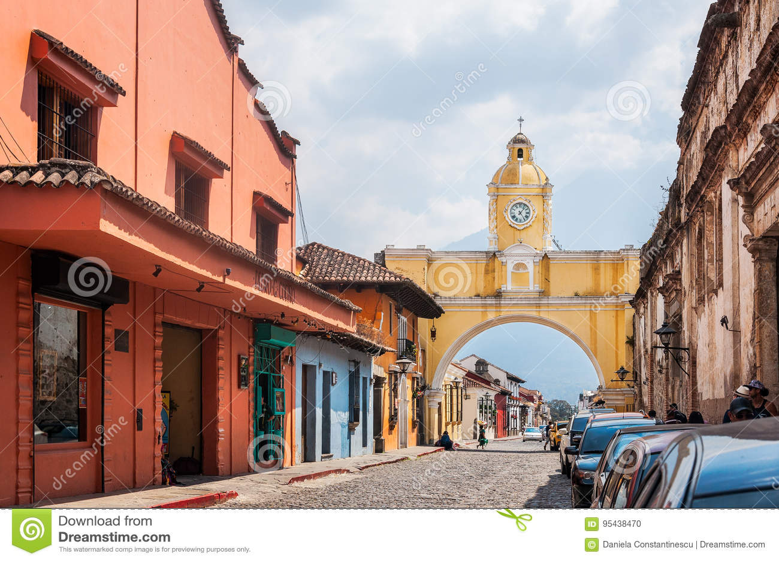 Santa Catalina Arch on main street in Antigua, Guatemala