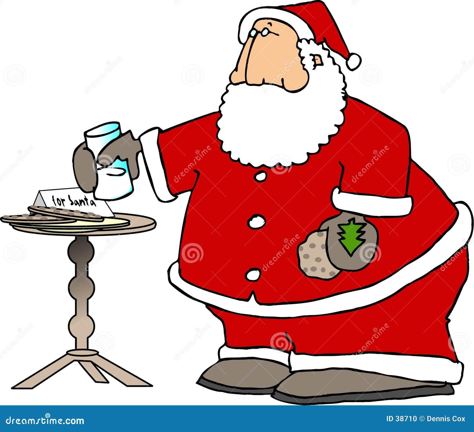 Santa che mangia gli spuntini