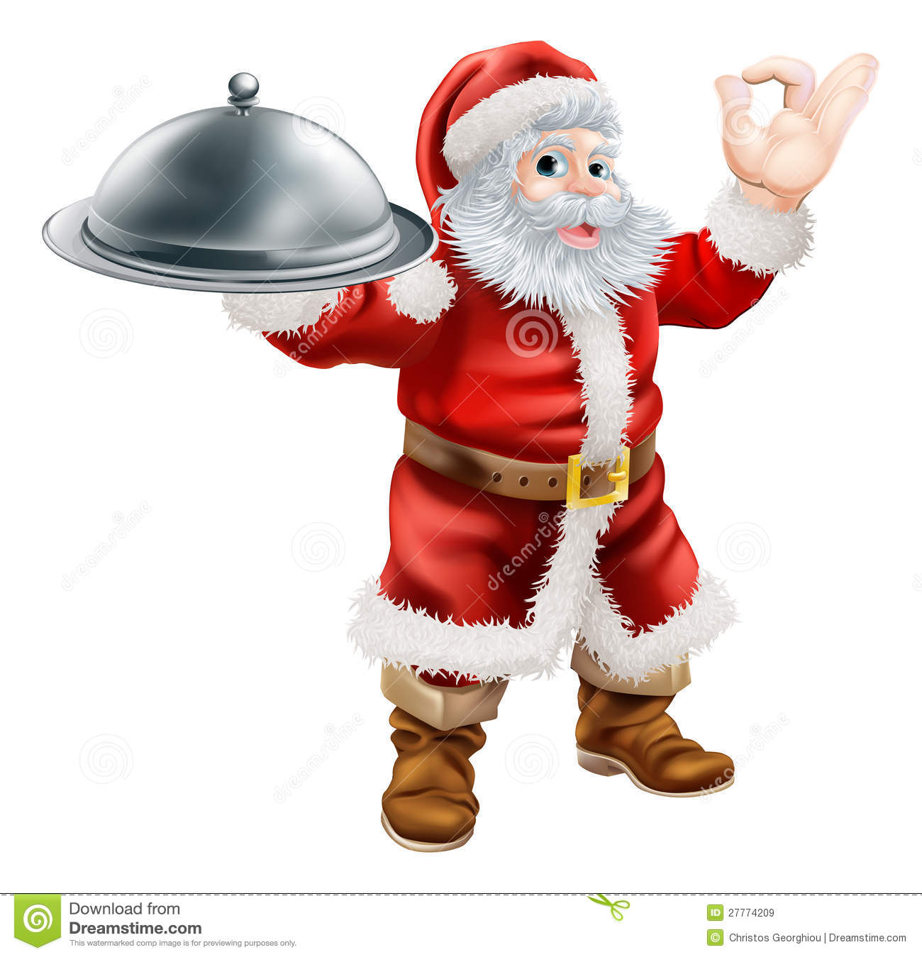 santa chef royalty free stock images image 27774209 Holding Lunch Tray Clip Art Art Lunch Tray