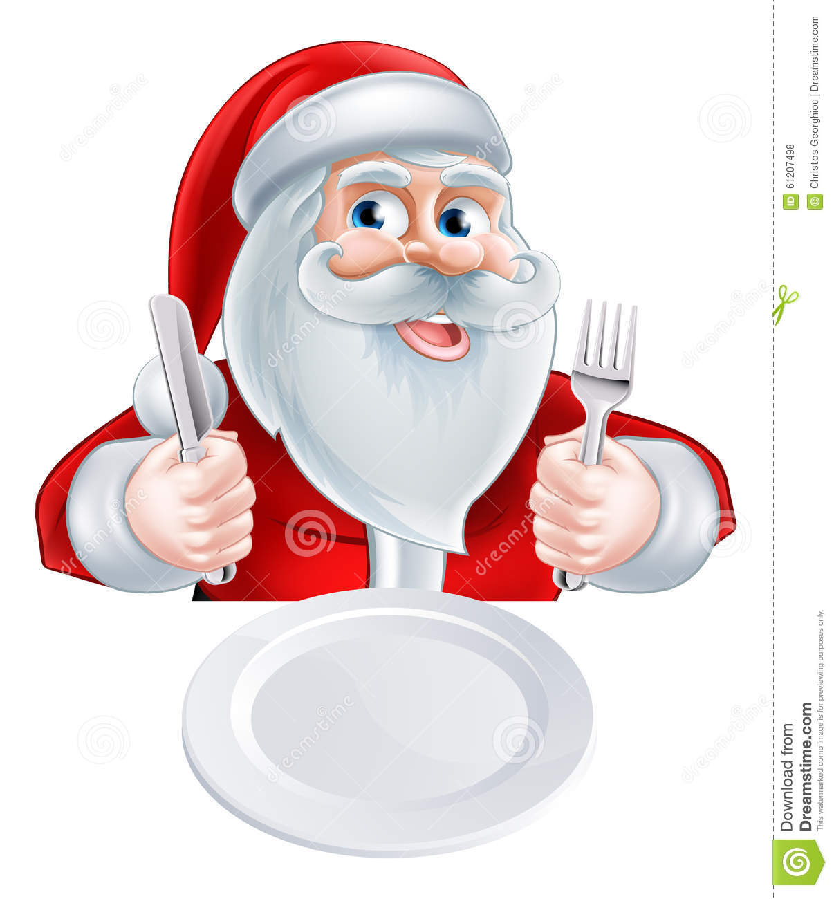 Santa Christmas Lunch Concept Stock Vector - Illustration ...