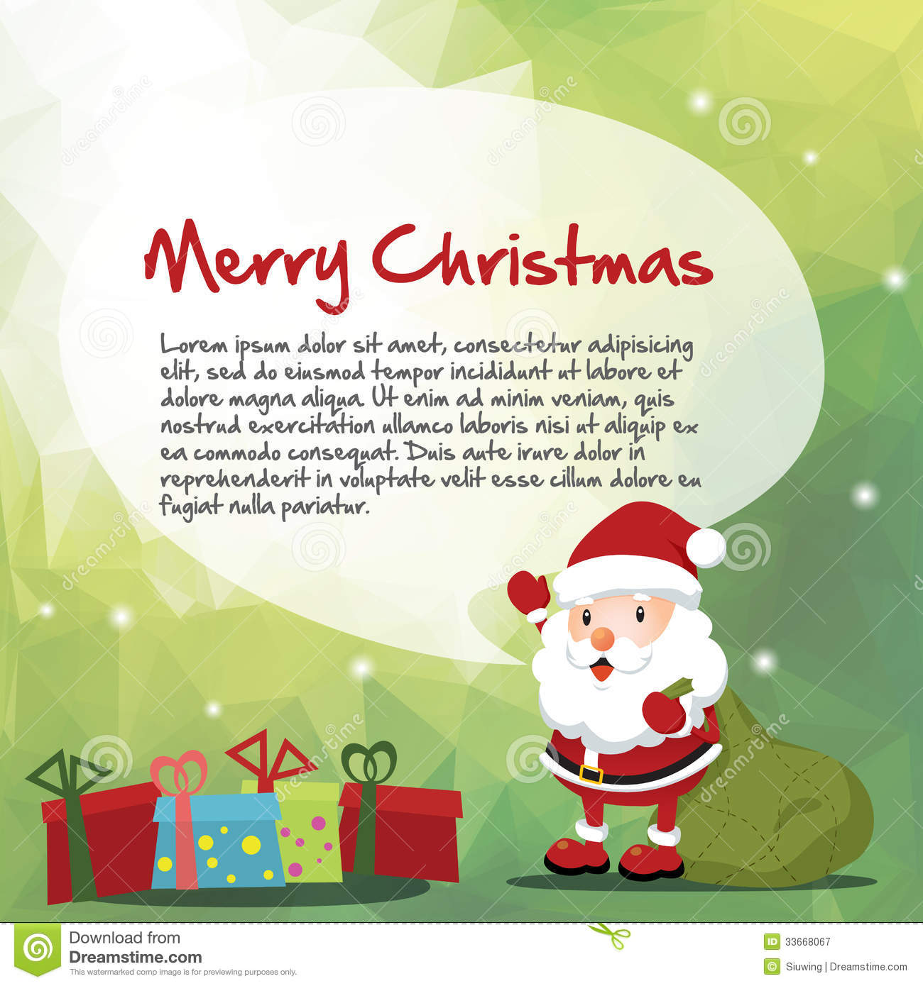 Santa And Christmas Message Stock Vector - Illustration of laugh ...