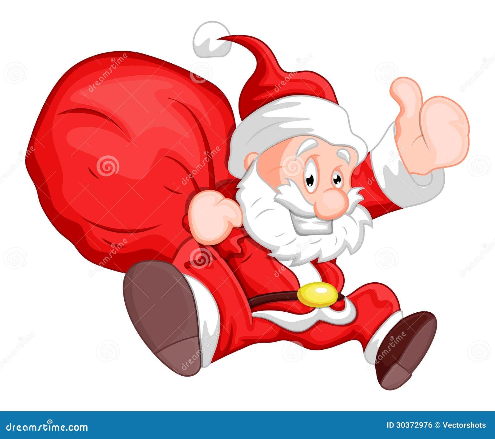 Santa - Christmas Vector Illustration Stock Vector - Image