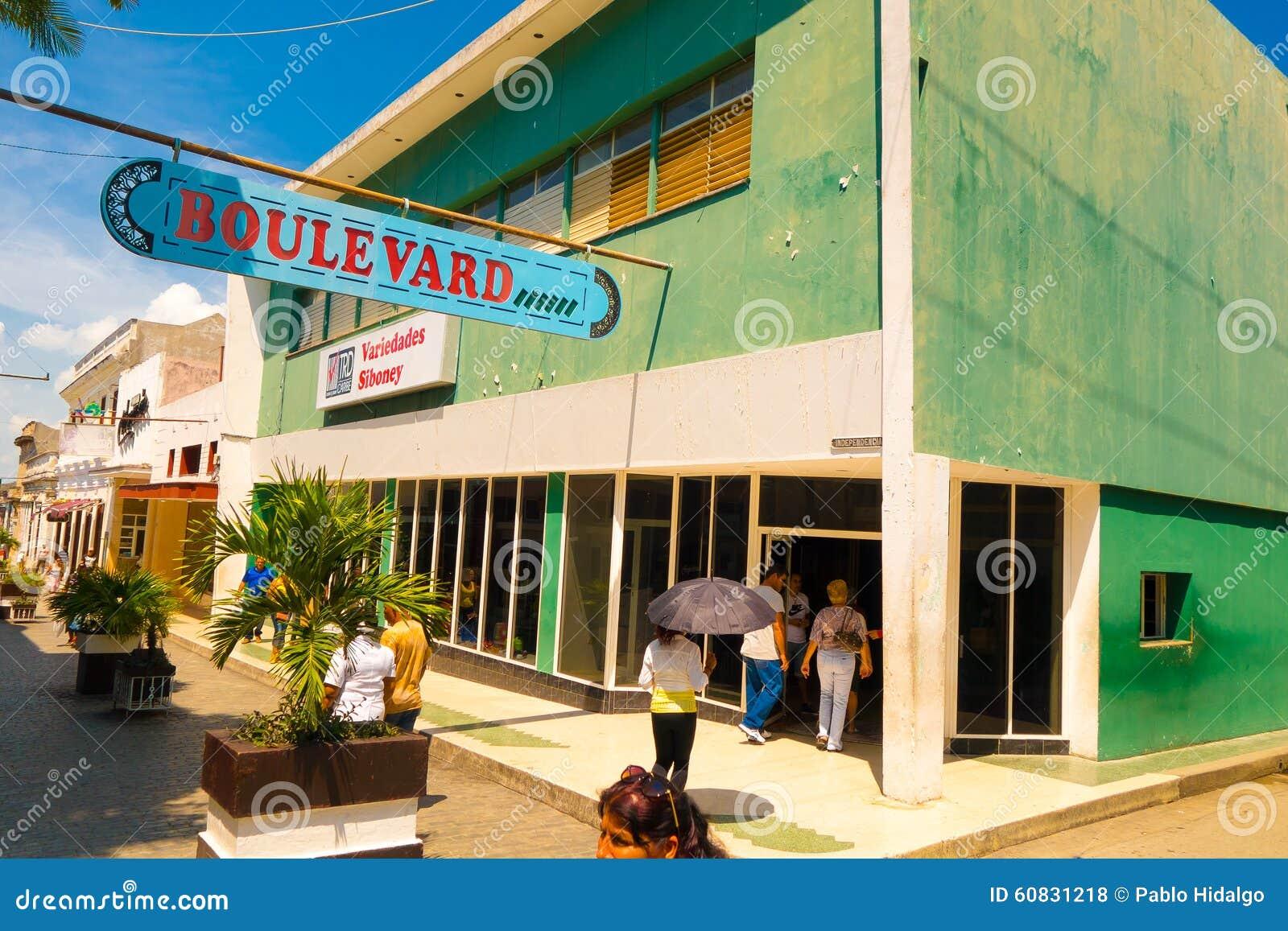 SANTA CLARA KUBA, WRZESIEŃ, - 08, 2015: Widok, śródmieście w stolicie prowincja, willa Clara