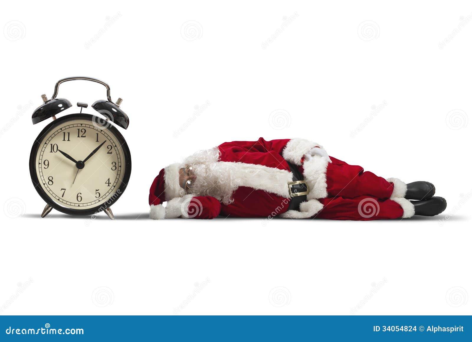 Santa Claus adormecida