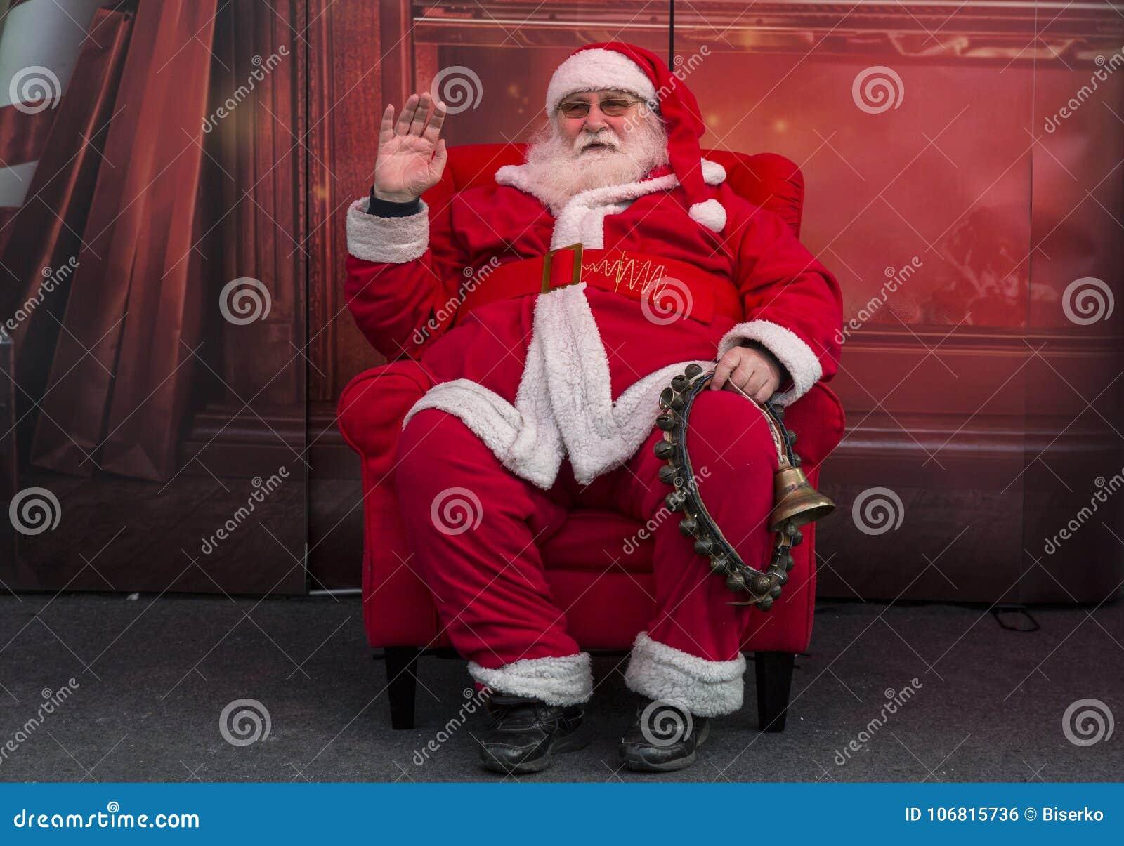 Santa Claus ankom i Zagreb, huvudstad av Kroatien