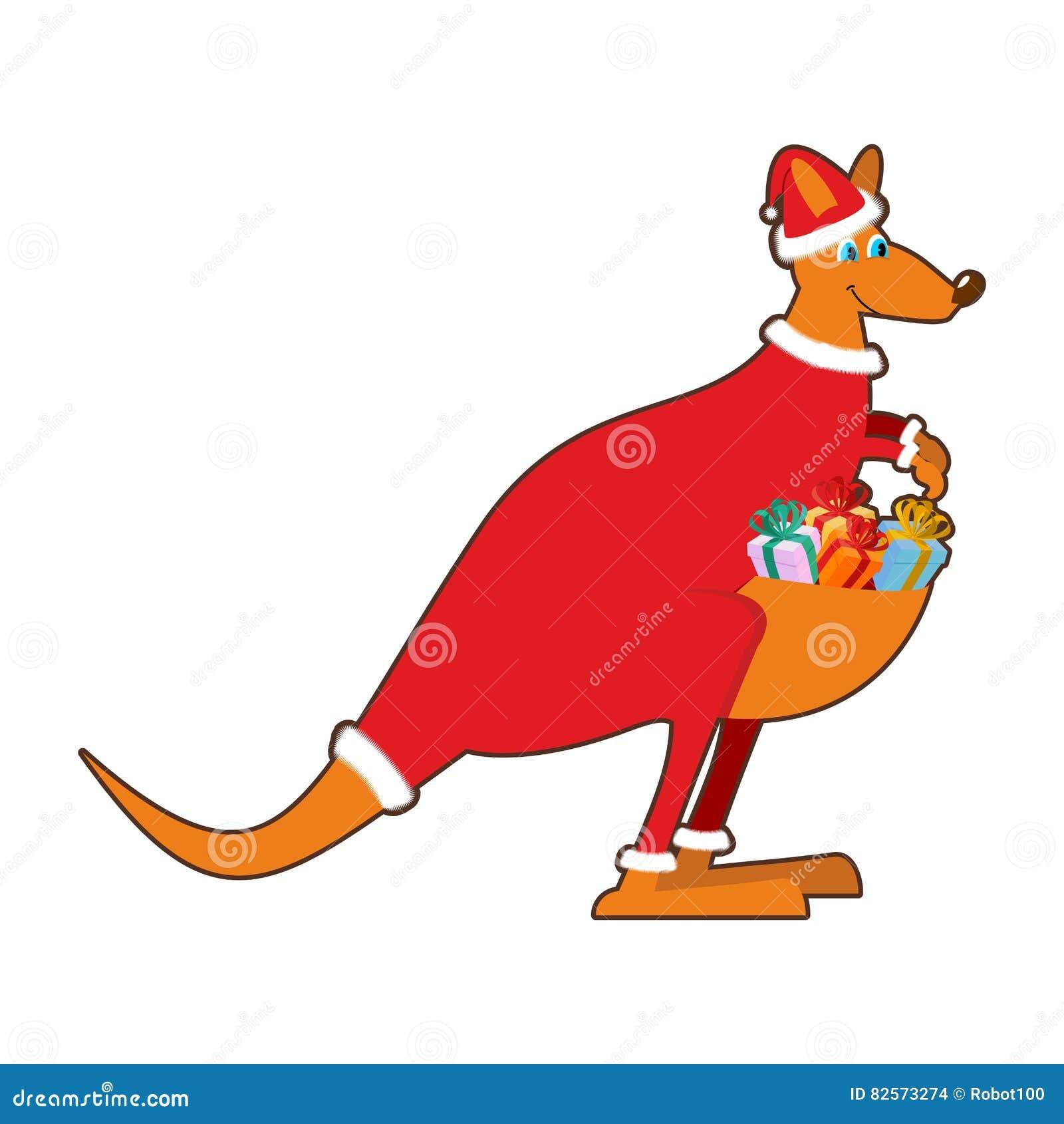 Christmas In Australia Santa.Santa Claus Australia Australian Kangaroo Santa Wallaby In