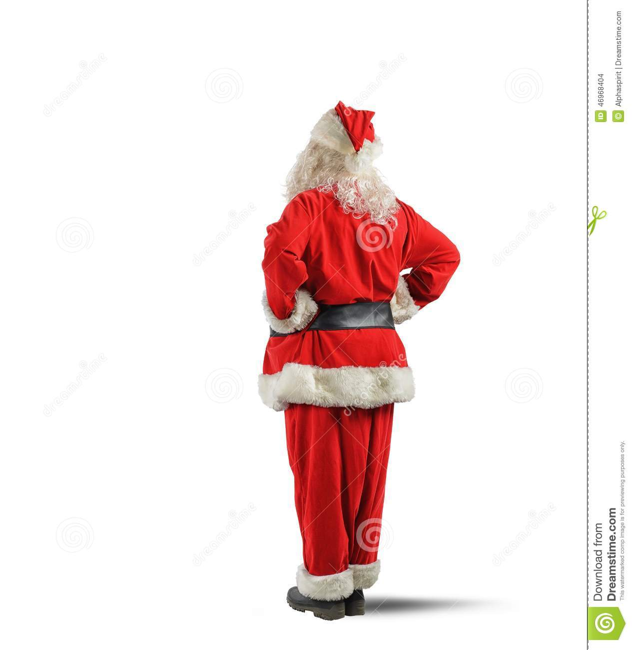 Santa claus back stock photo image of tradition person - Pere noel de dos ...