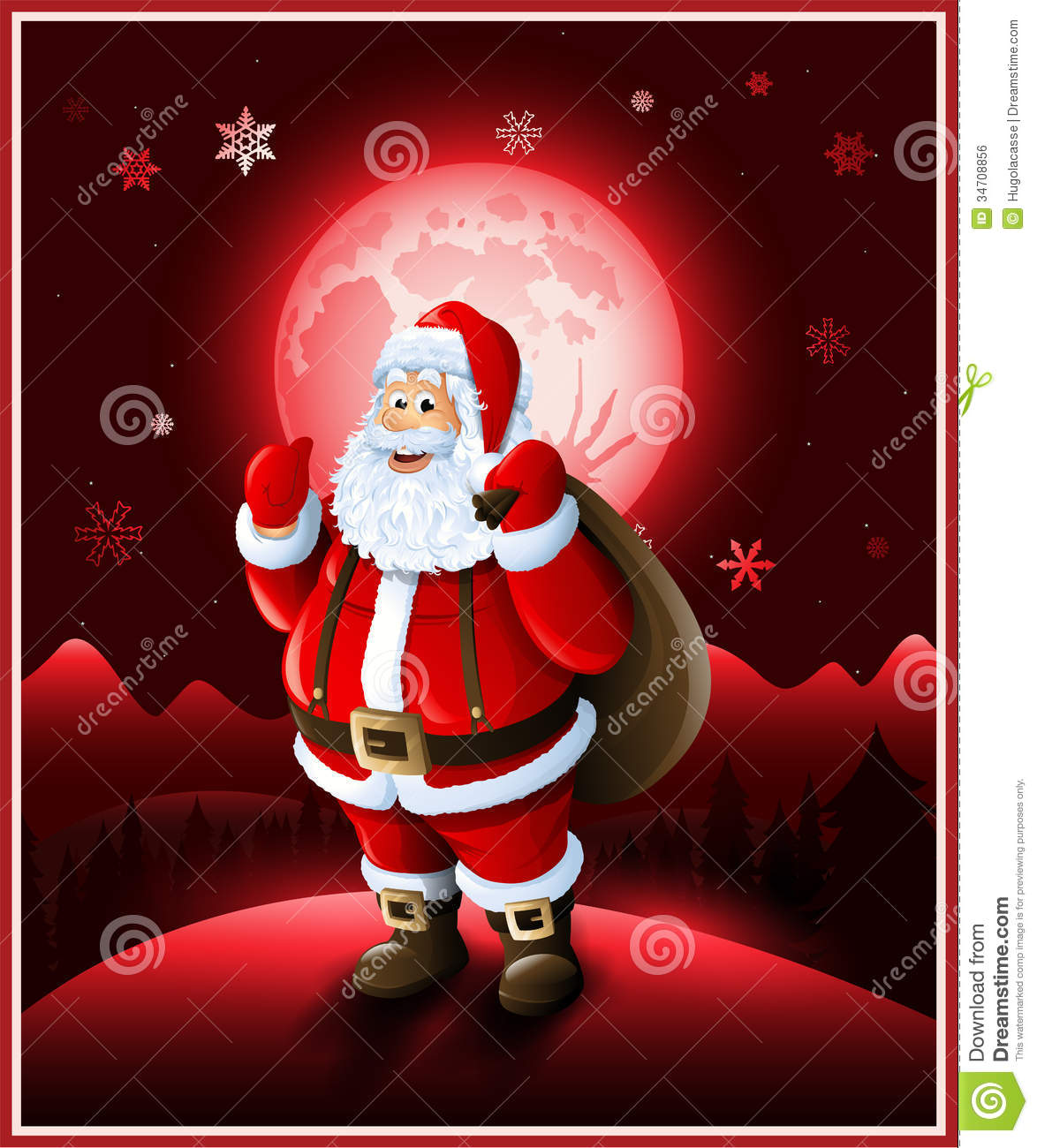 Santa claus background christmas greeting card stock vector santa claus background christmas greeting card m4hsunfo Image collections
