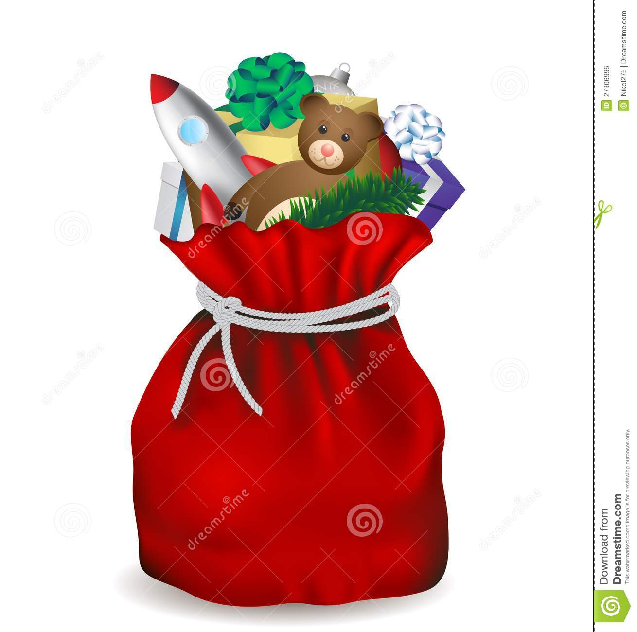 Santa claus bag royalty free stock image