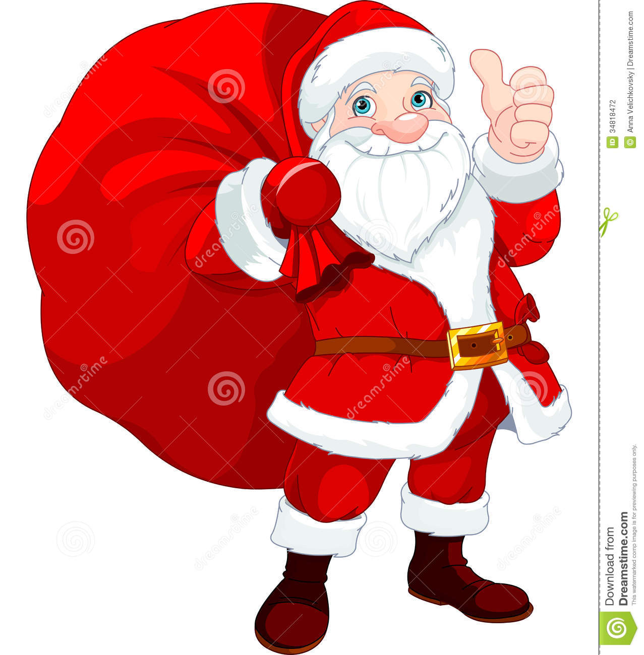 Santa claus with a bag stock vector illustration of