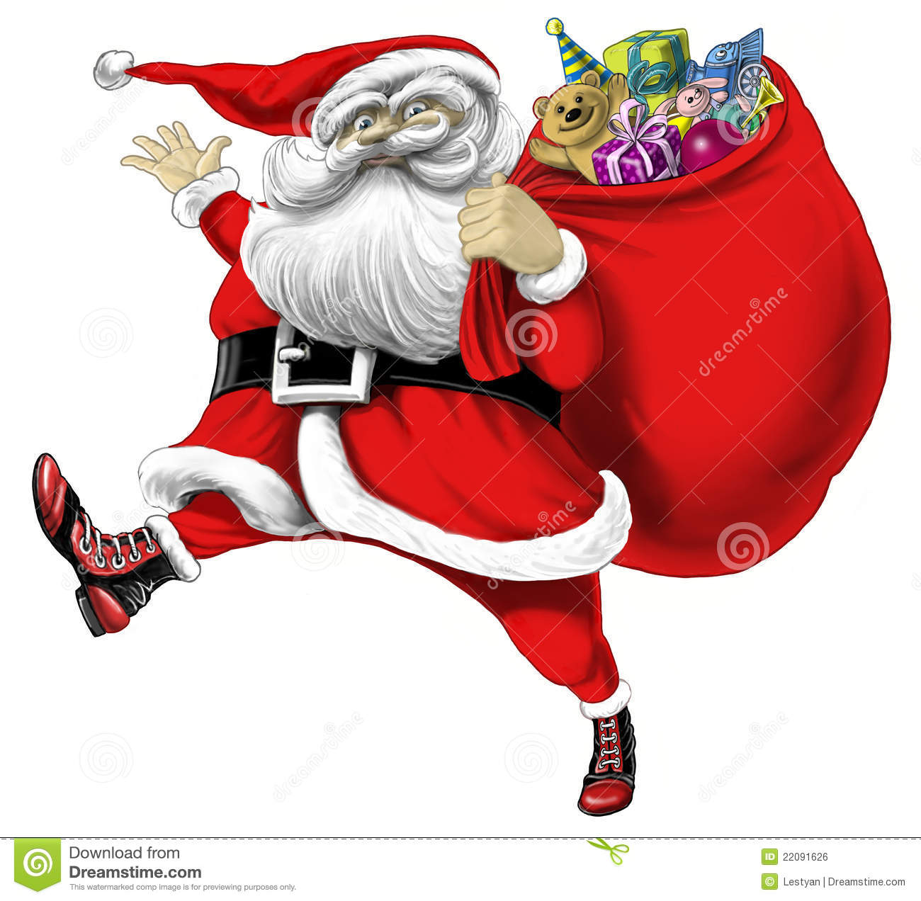 santa claus with bag of presents royalty free stock image image