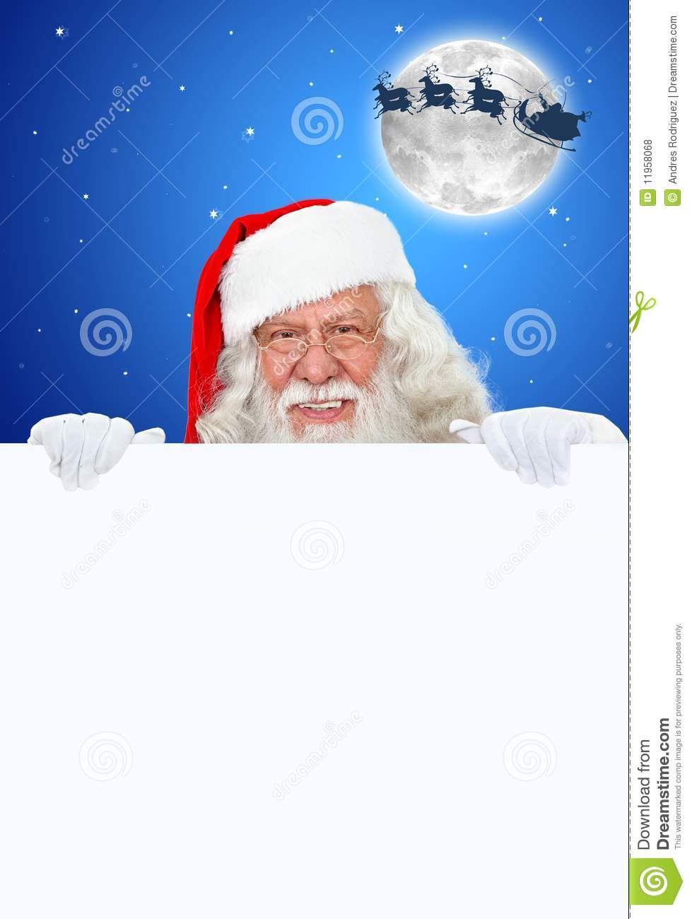 Santa claus with banner royalty free stock photos image