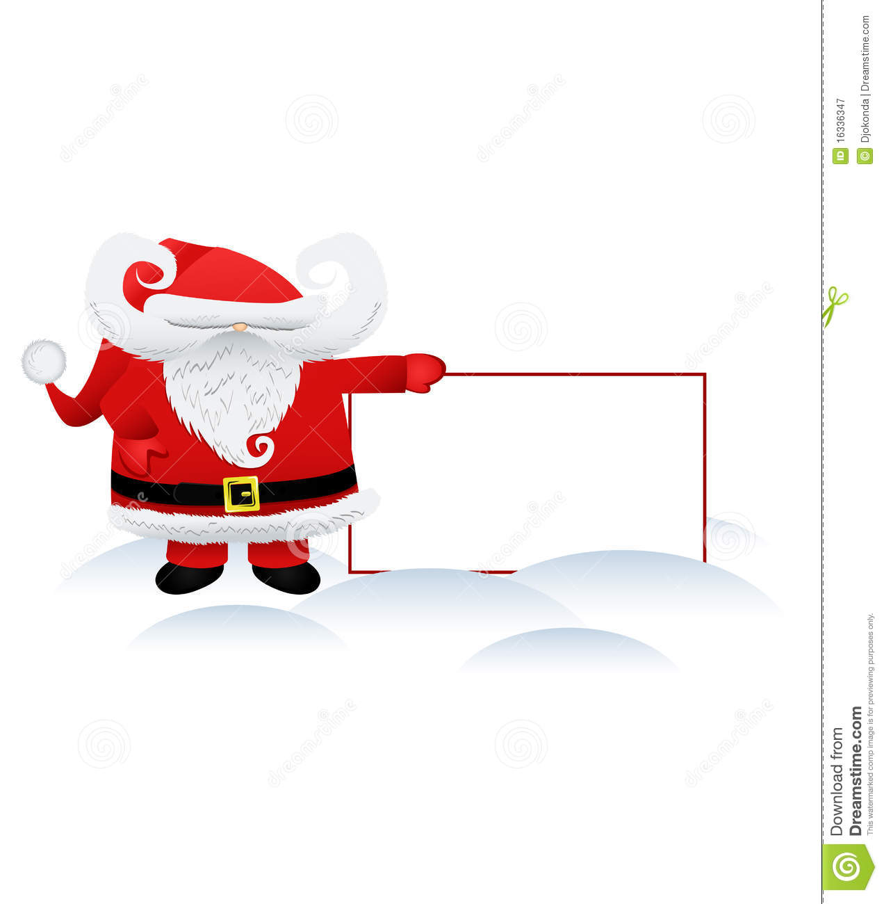 Santa claus and a banner royalty free stock photography