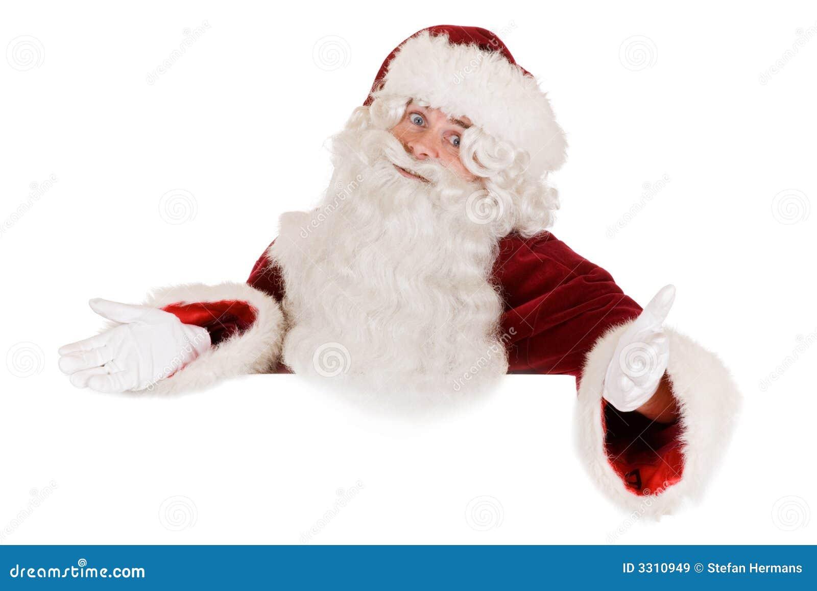 Santa claus banner stock image of panel white