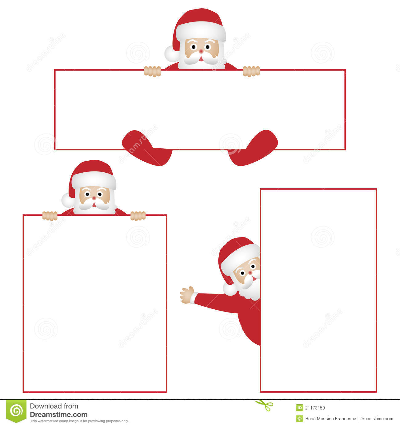 Santa claus with banners royalty free stock images image