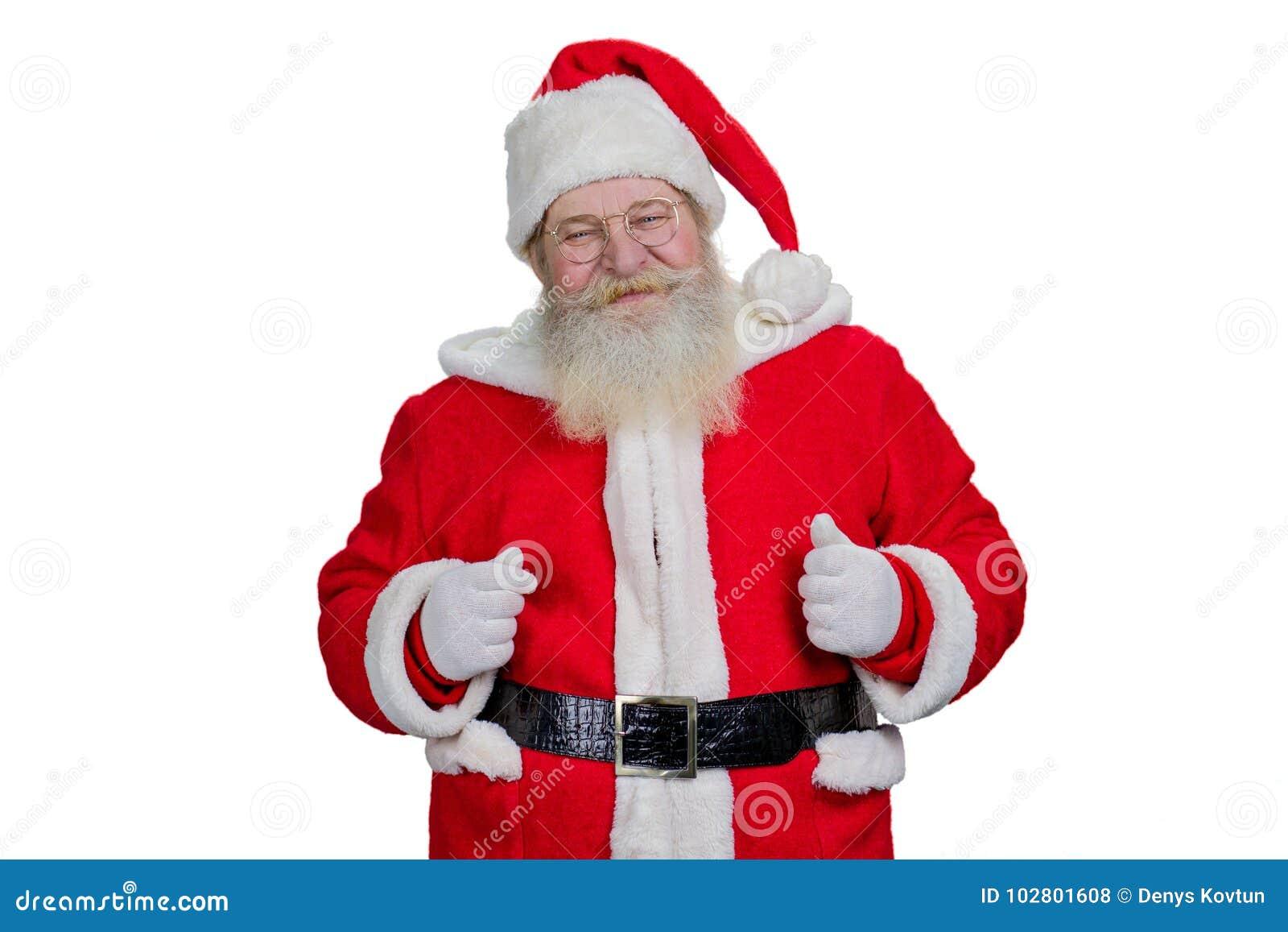 Santa Claus Barbuda Real En El Fondo Blanco Foto De
