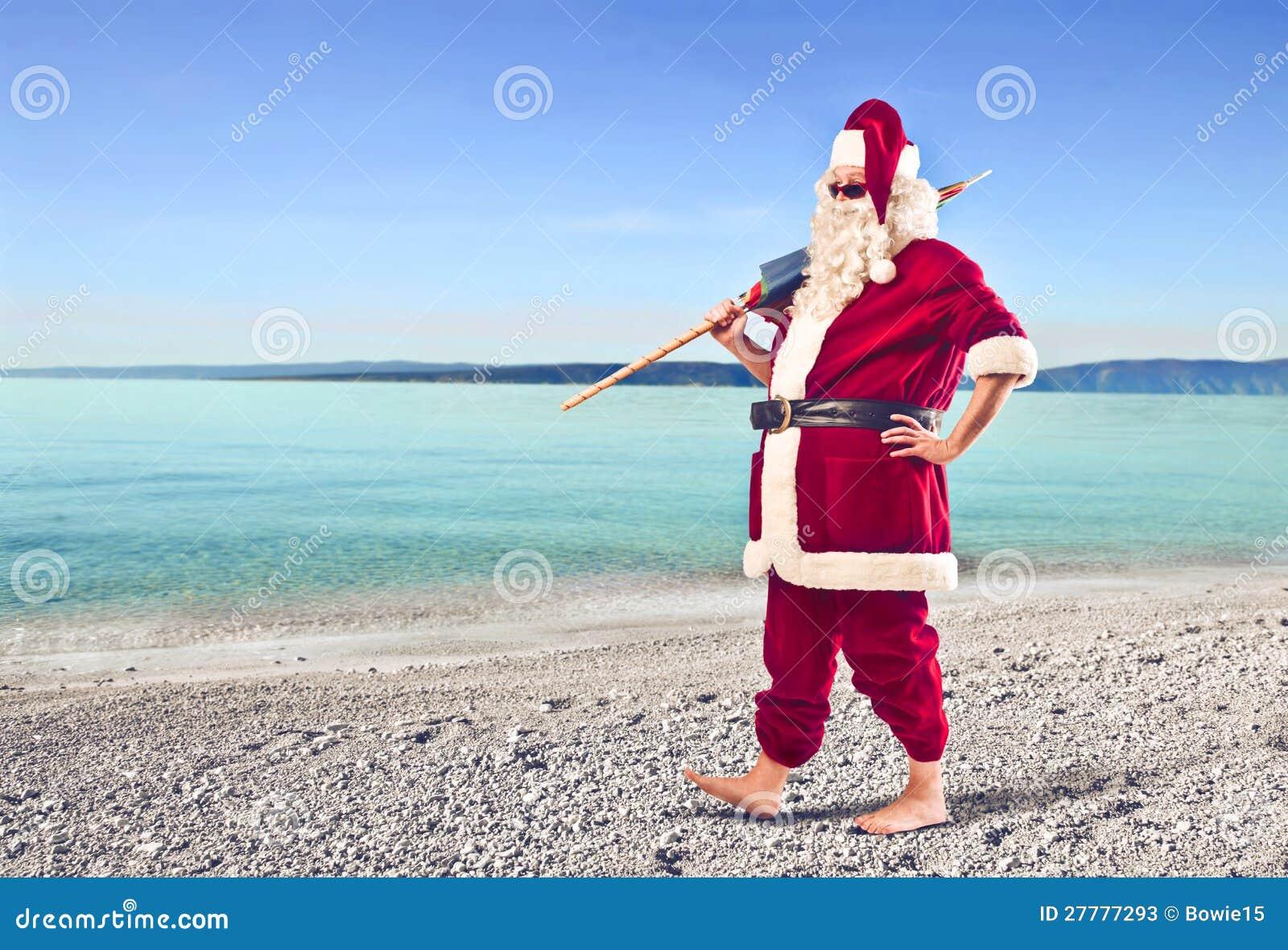 free clipart santa on the beach - photo #41