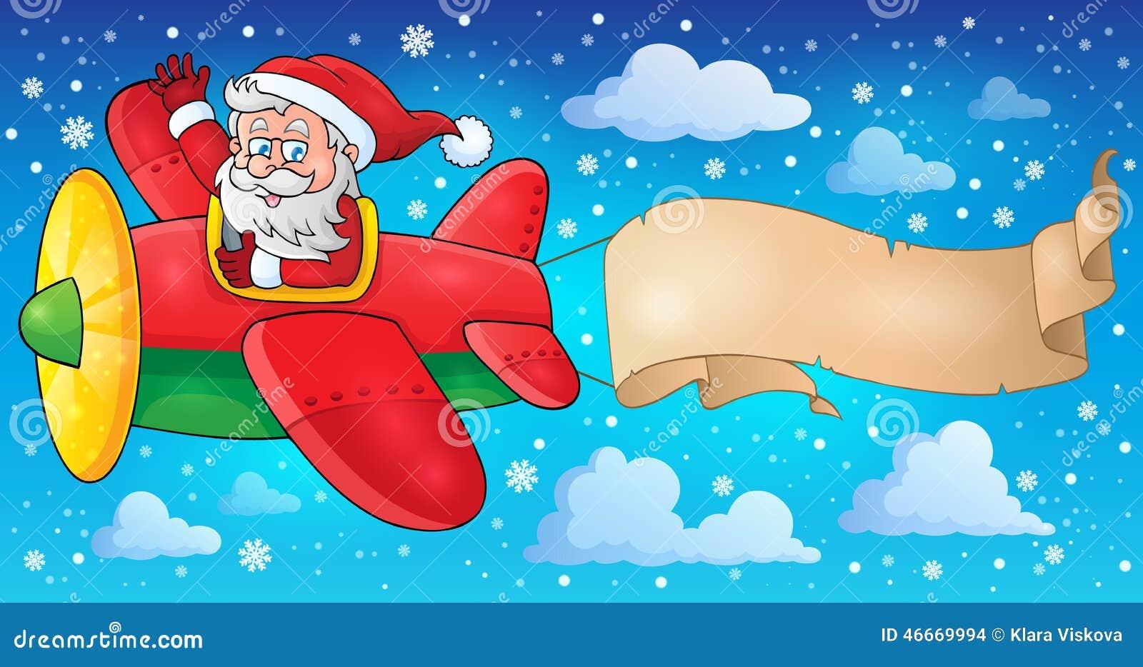 Santa Claus in beeld 5 van het vliegtuigthema
