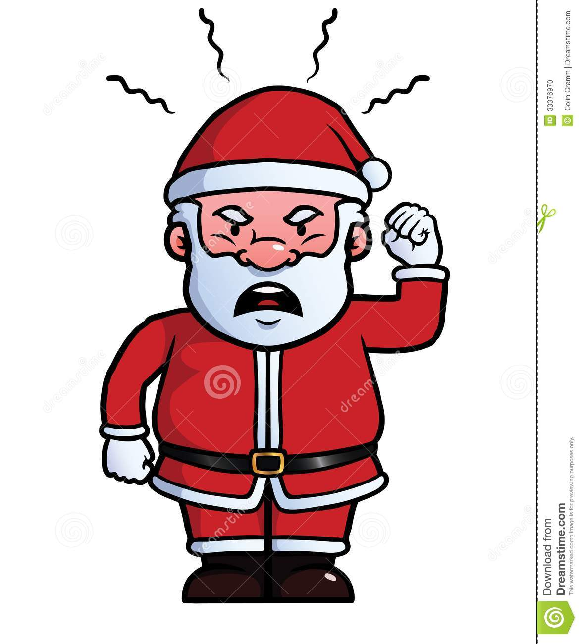 Santa Claus Being Angry Stock Photo - Image: 33376970