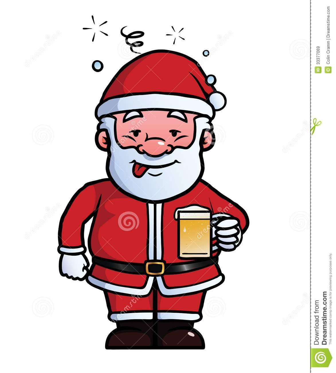 Santa Claus Being Drunk Stock Vector Illustration Of Drunkenness 33377069