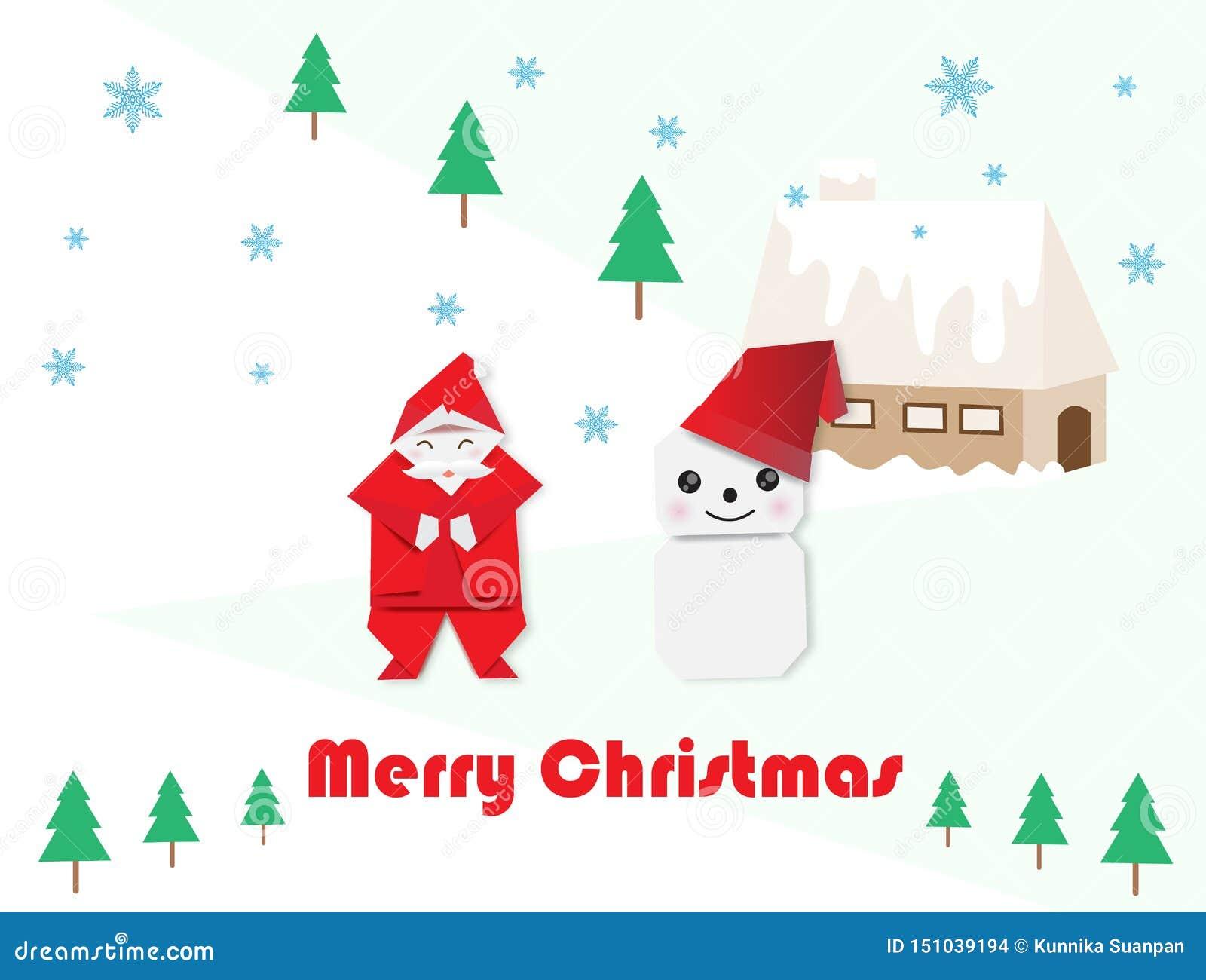 Santa Claus, boneco de neve e abeto para o Natal