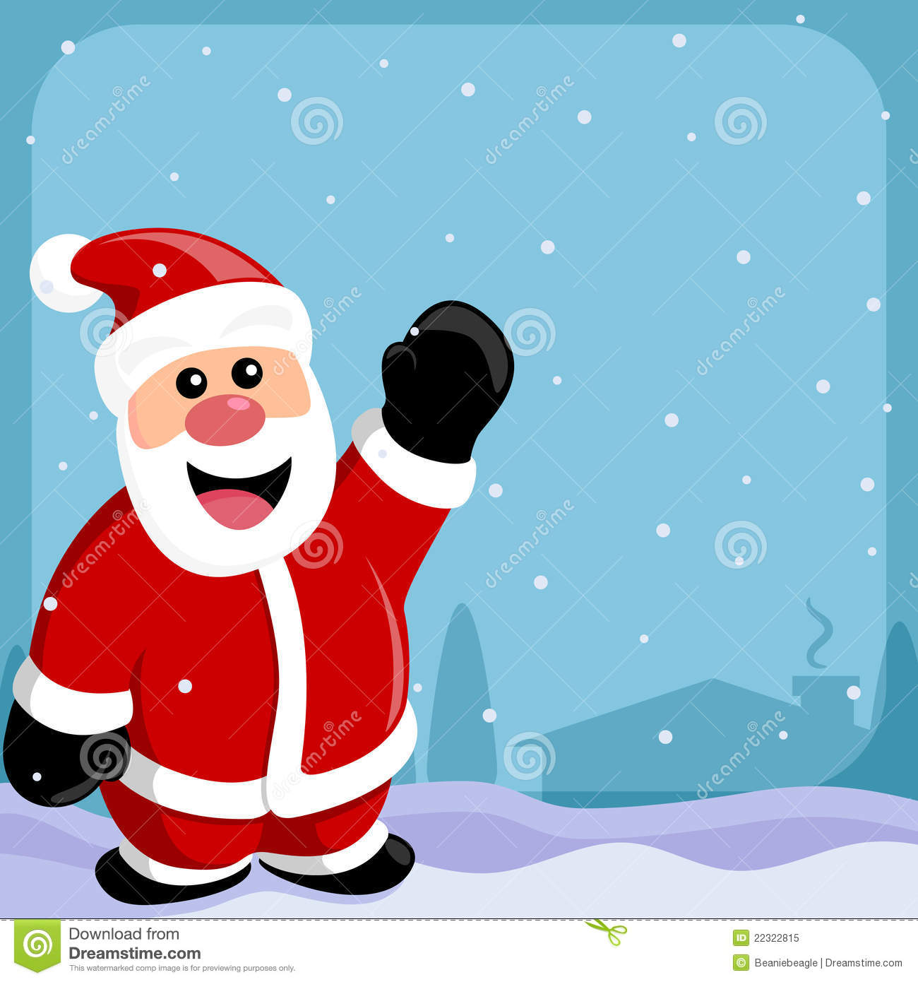 Father Christmas Images Free.Santa Claus Border Stock Vector Illustration Of Cartoon